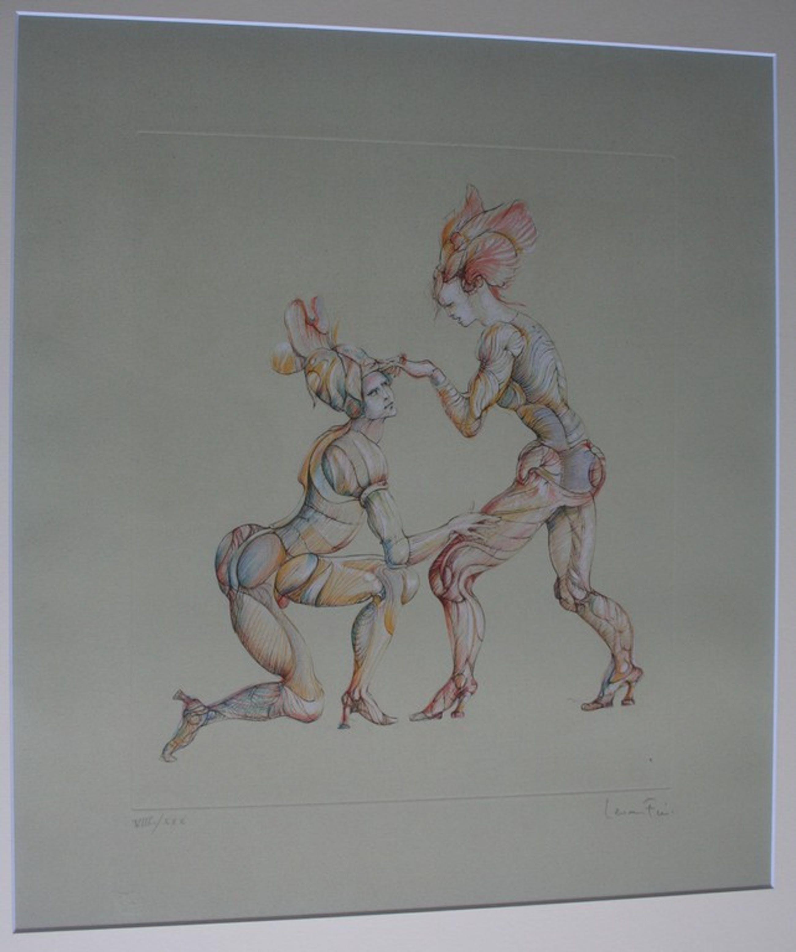 Leonor Fini, Kleurenets, dansers - gesigneerd - oplage 30 ex. kopen? Bied vanaf 80!