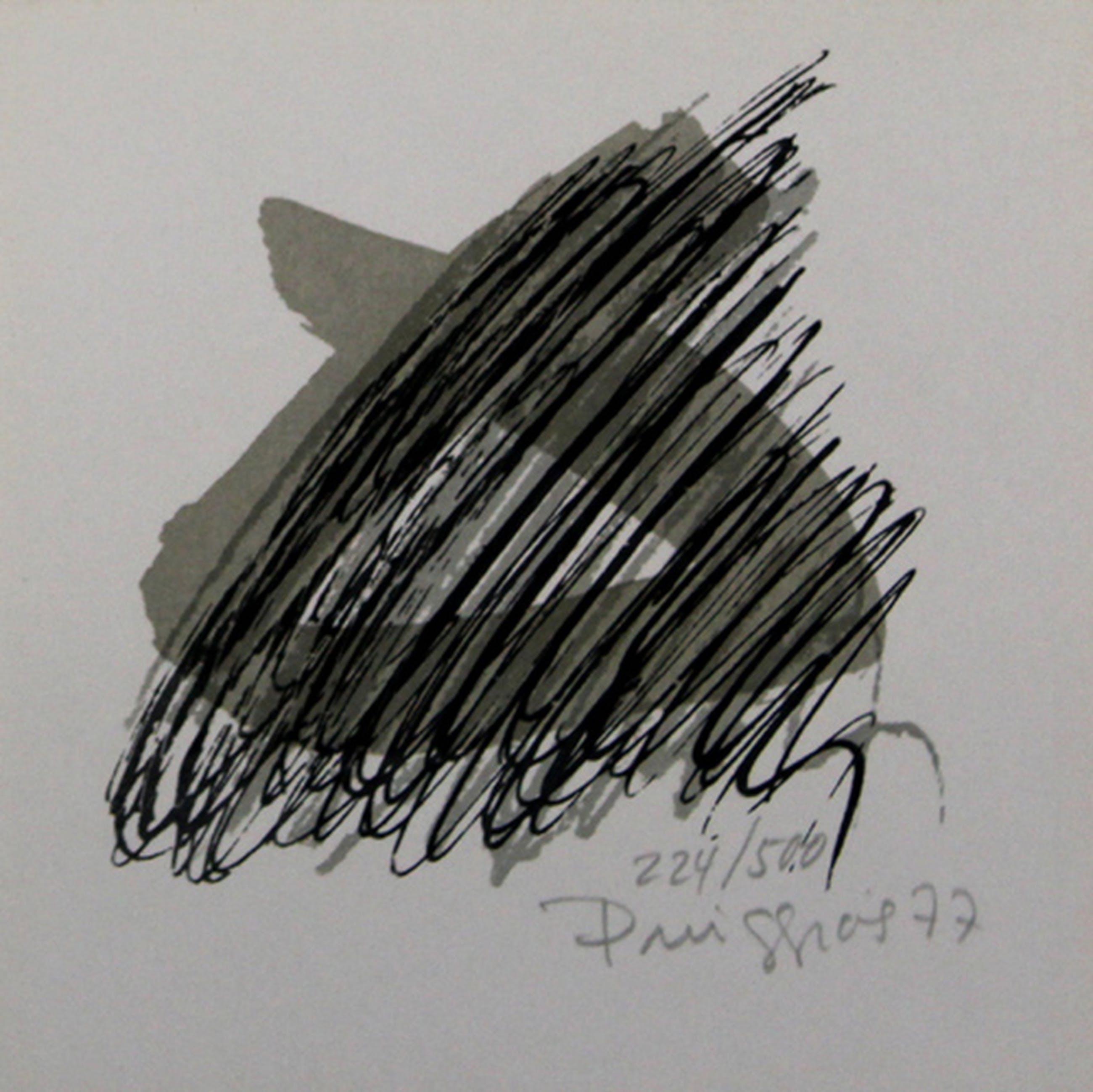 Pere Puiggrós: Lithografie, Abstracte Compositie kopen? Bied vanaf 1!
