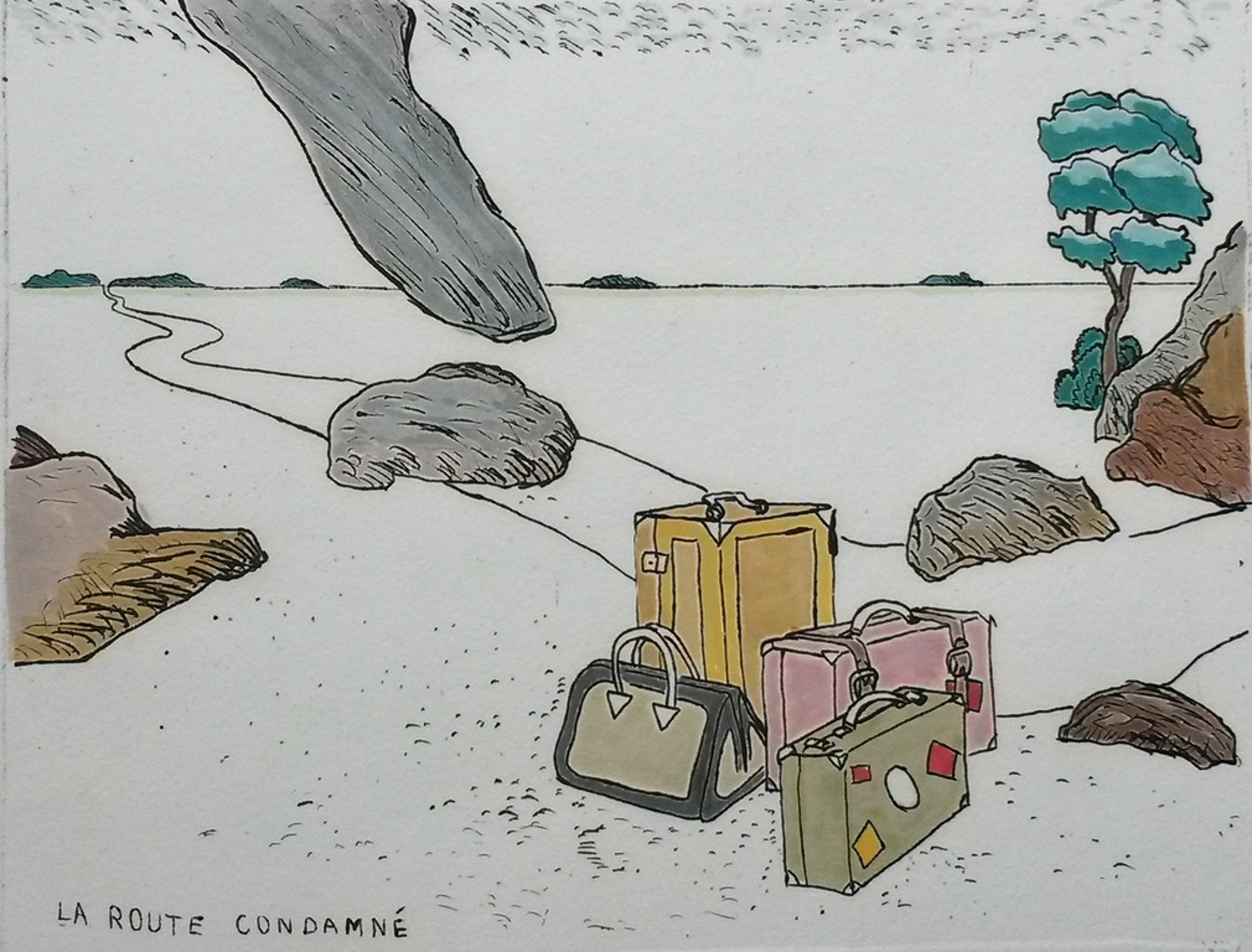 Pieter Holstein - La route condamné - ingekleurde ets kopen? Bied vanaf 65!