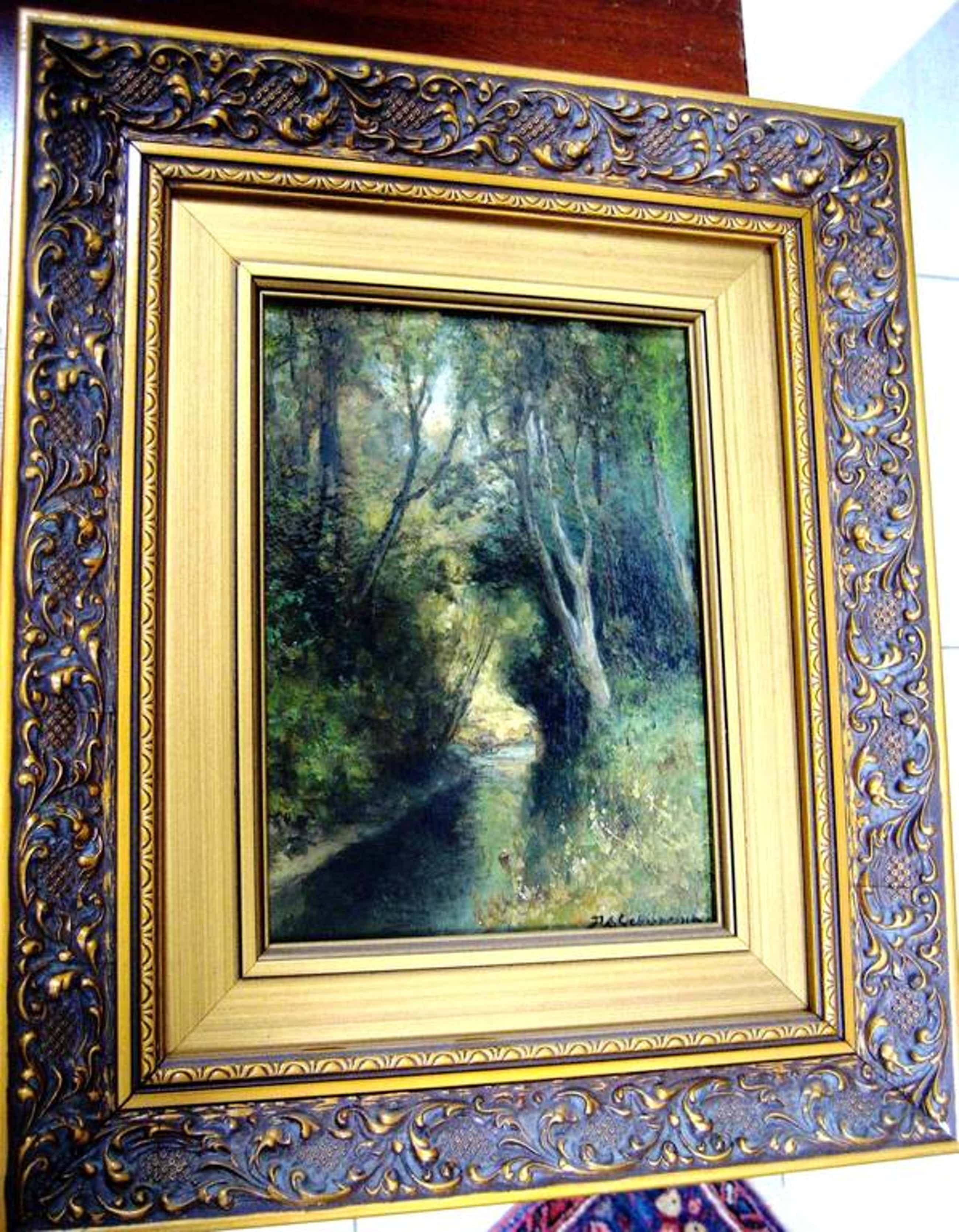 P.A.Schipperus,  de bekende 19e eeuwse schilder: Een beekje bij Beekhuizen kopen? Bied vanaf 200!