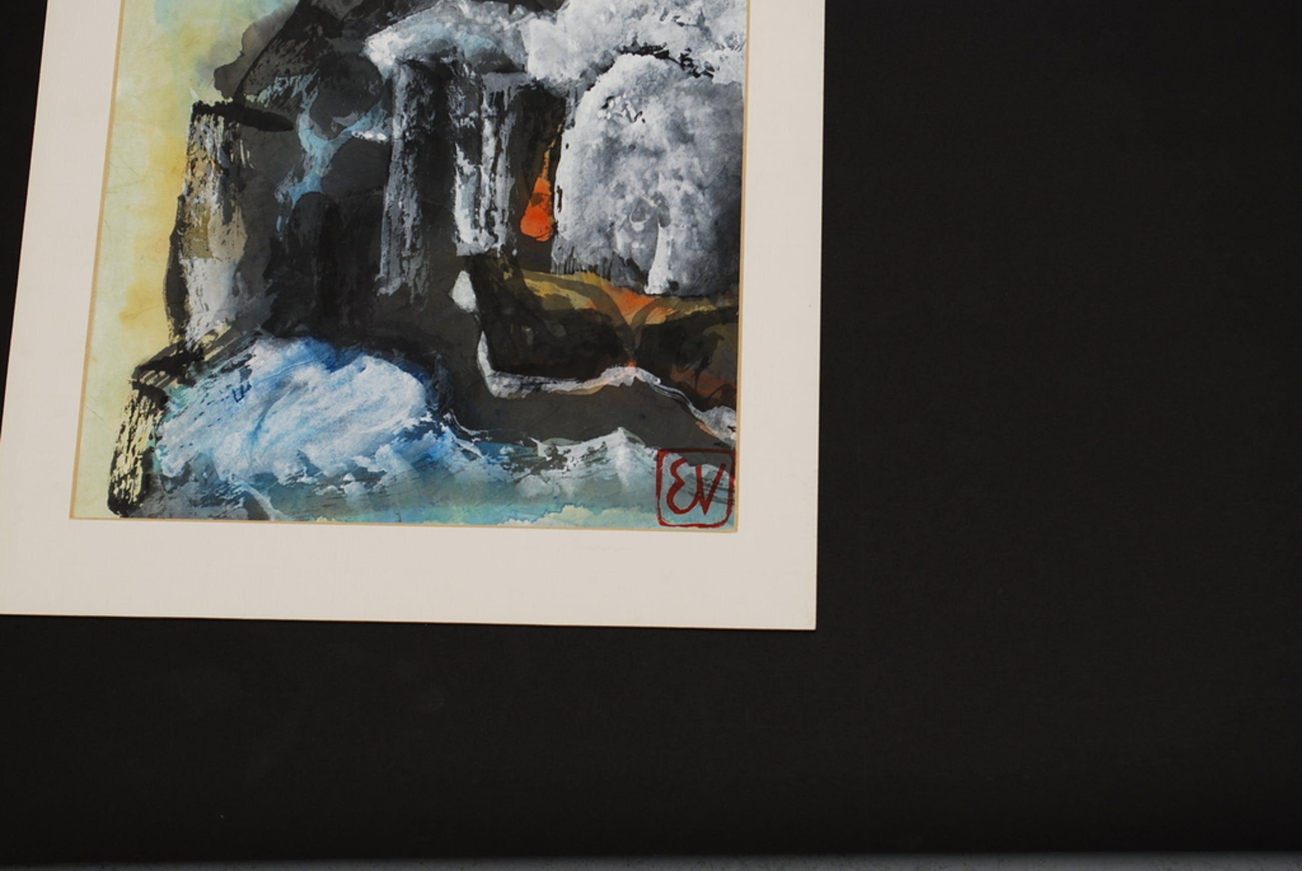 ERNST VIJLBRIEF (1934-2010) aquarel op rijstpapier kopen? Bied vanaf 1!