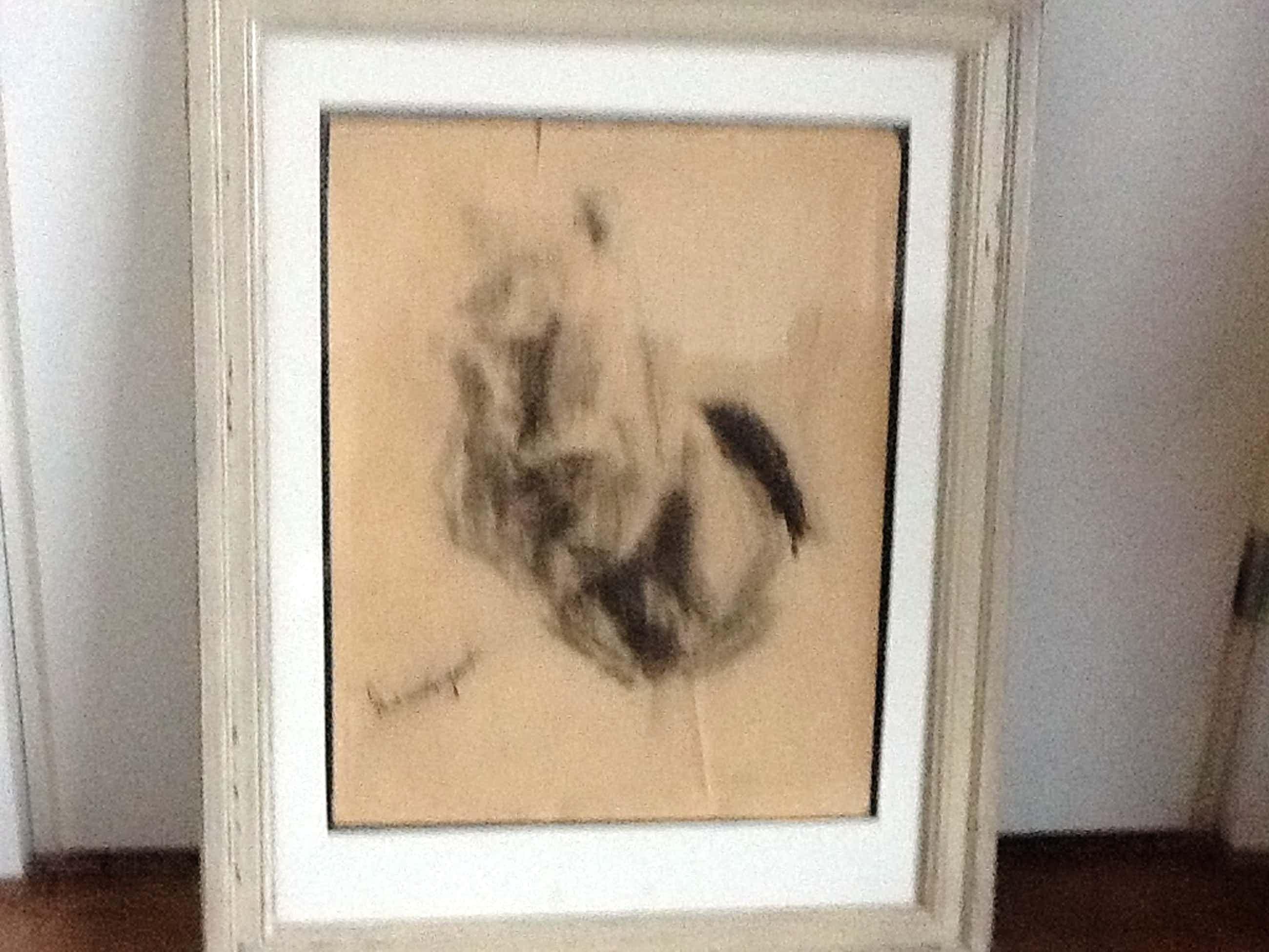 Piet van Wijngaerdt : Handgesigneerde zwartkrijt tekening. kopen? Bied vanaf 35!