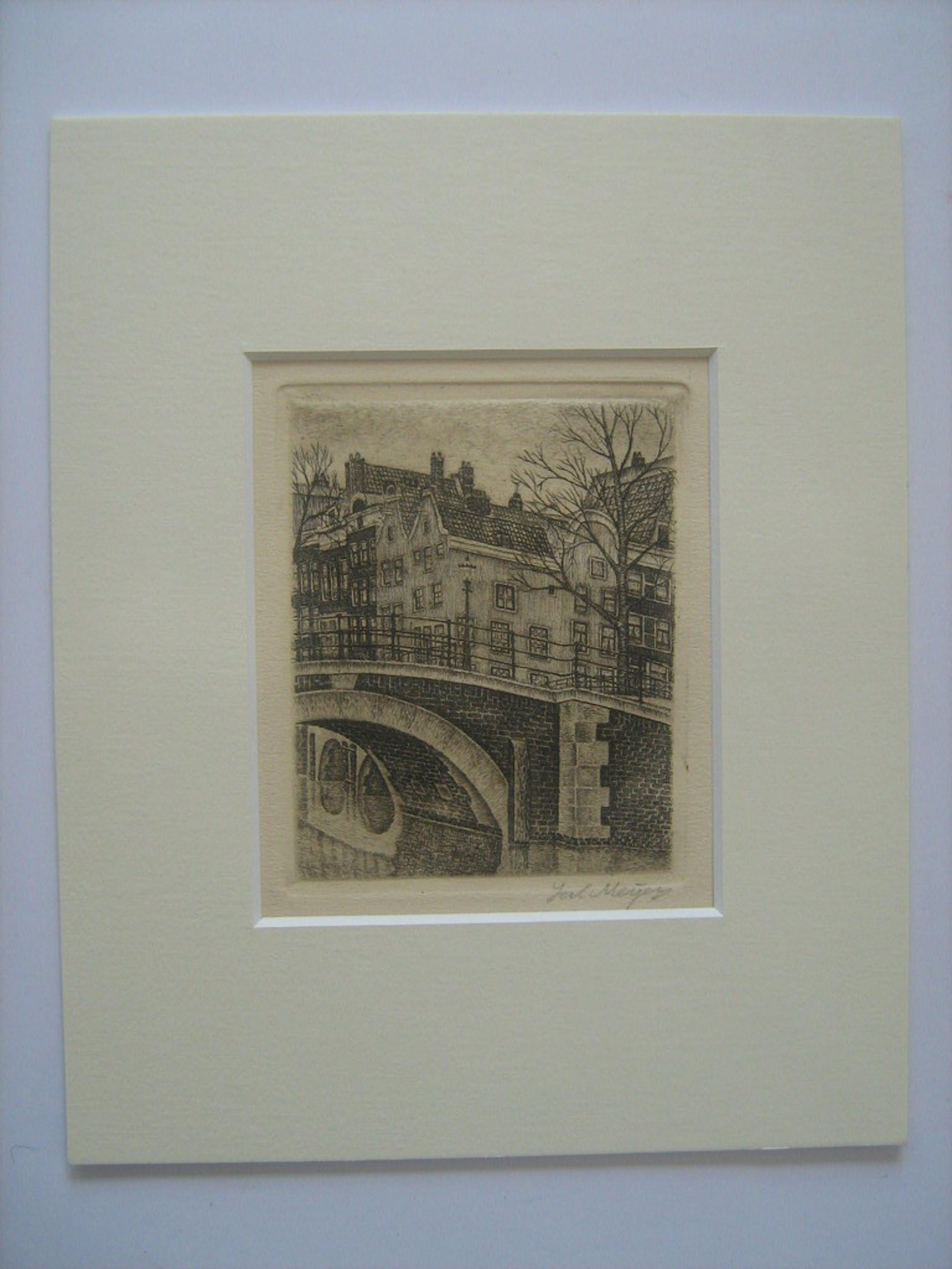 Amsterdam - Sal Meijer - Reguliersgracht circa 1929 - Éen van de kleine etsen  kopen? Bied vanaf 80!