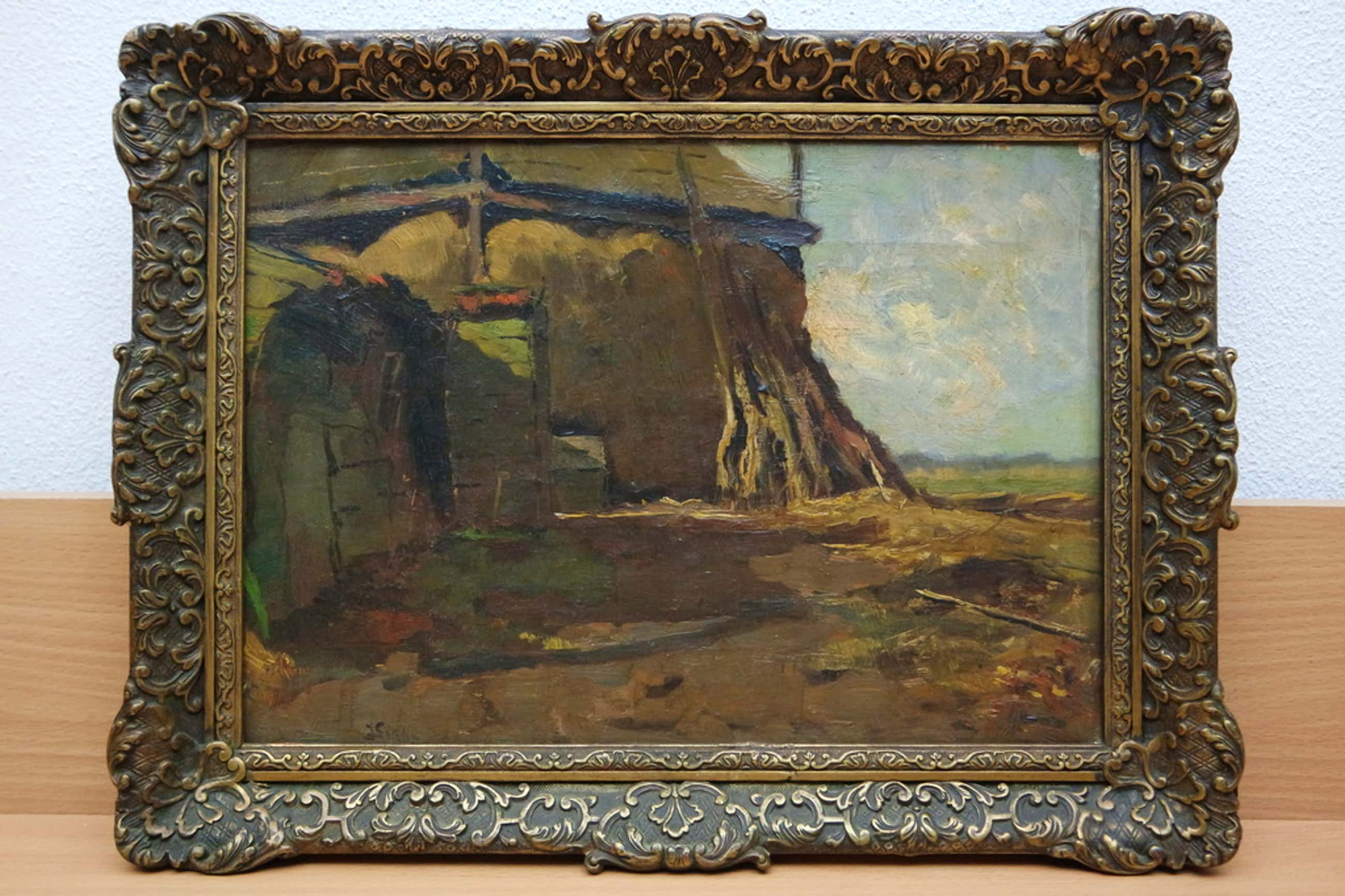 Jan Sirks (1885-1938) - olieverf op doek - hooimijt kopen? Bied vanaf 175!