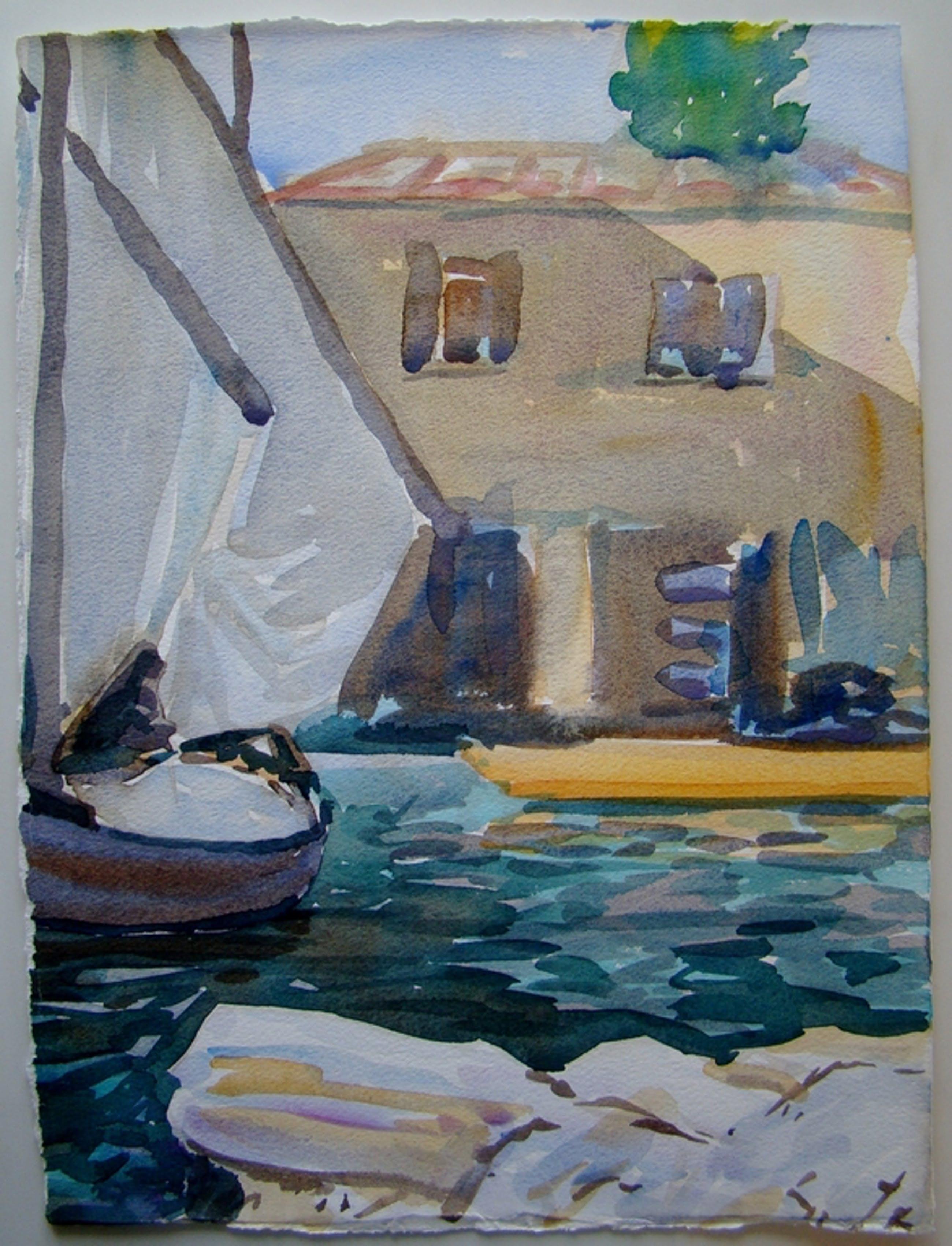 Cees Wijsman - Blaricum - serie van 5 aquarellen kopen? Bied vanaf 1!