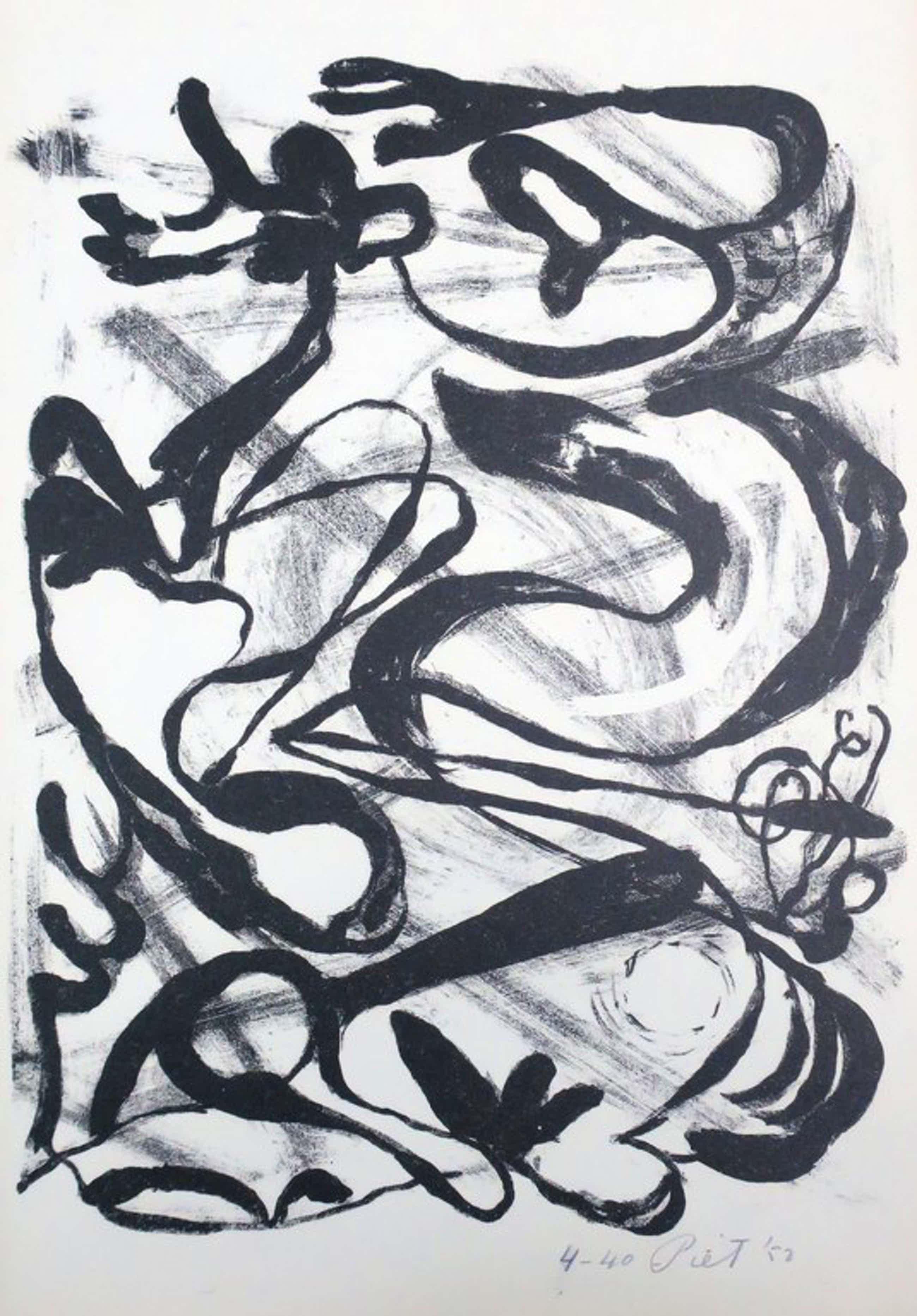 Piet van Stuivenberg: Litho, Zonder titel (Creatie 1952) kopen? Bied vanaf 37!
