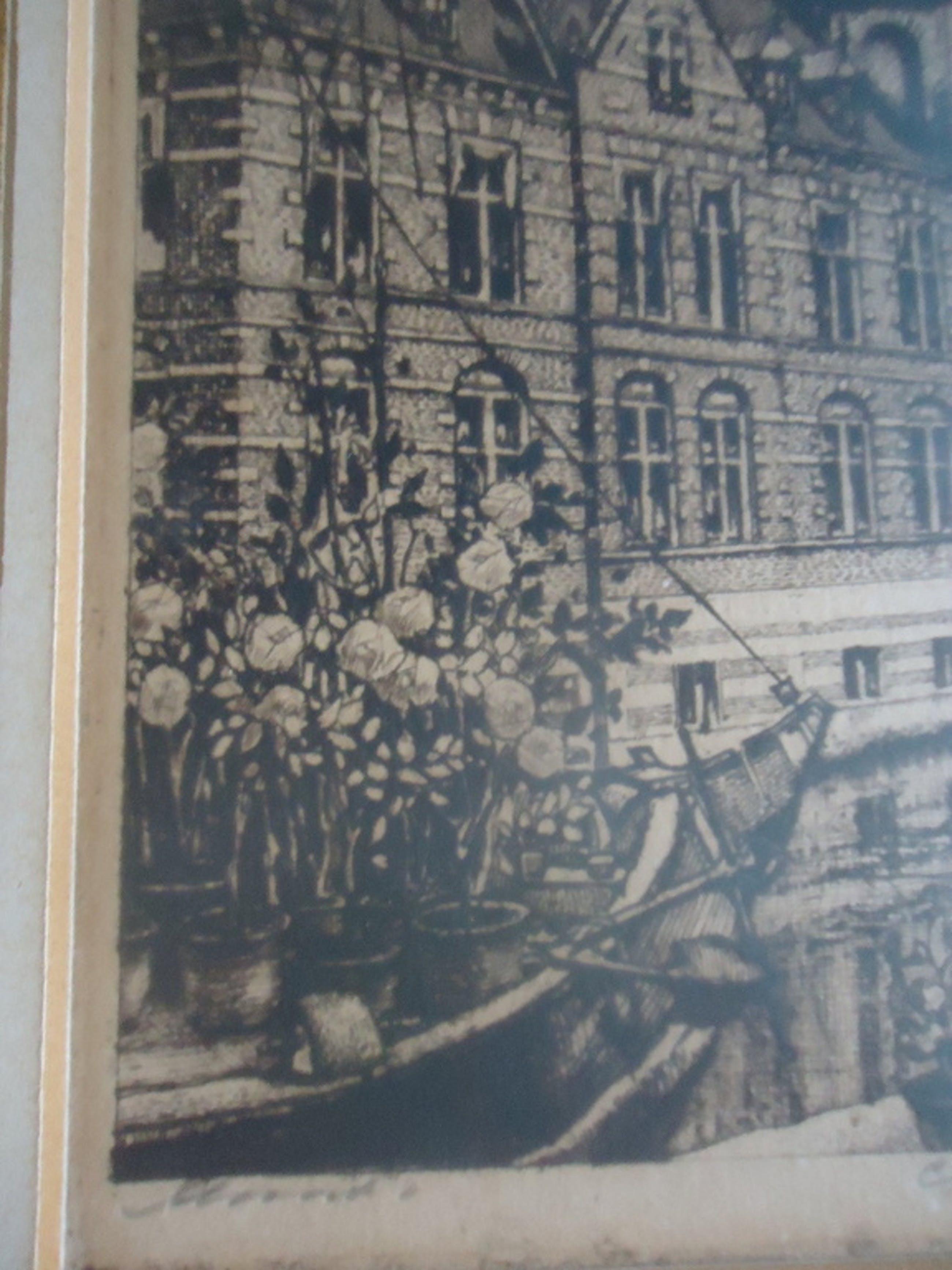 Cornelis Brandenburg ( 1884 - 1954 ) - ets - Munt.  kopen? Bied vanaf 1!