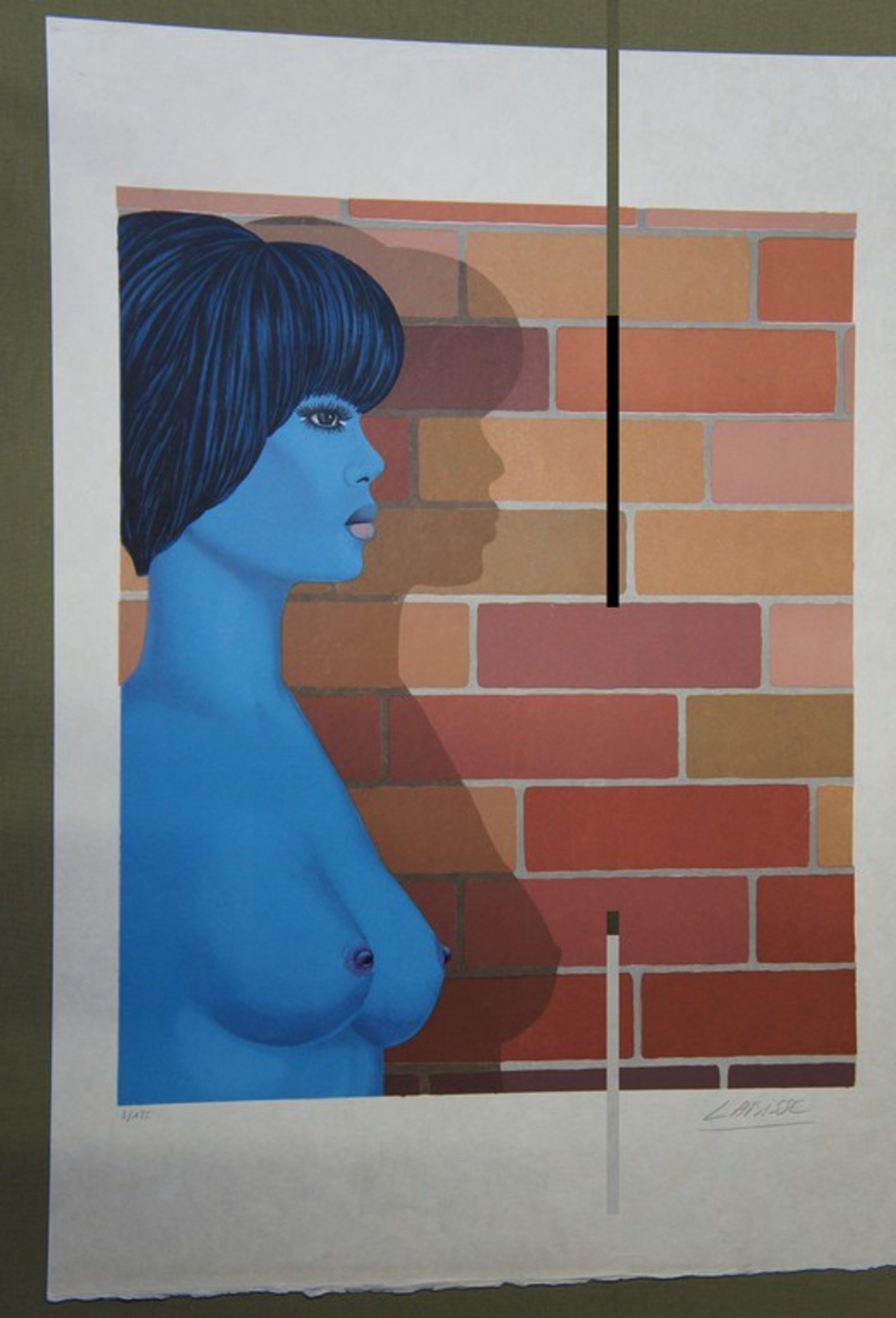 Lithografie - Félix Labisse (1905 – 1982), Vrouw met haar schaduw  kopen? Bied vanaf 25!
