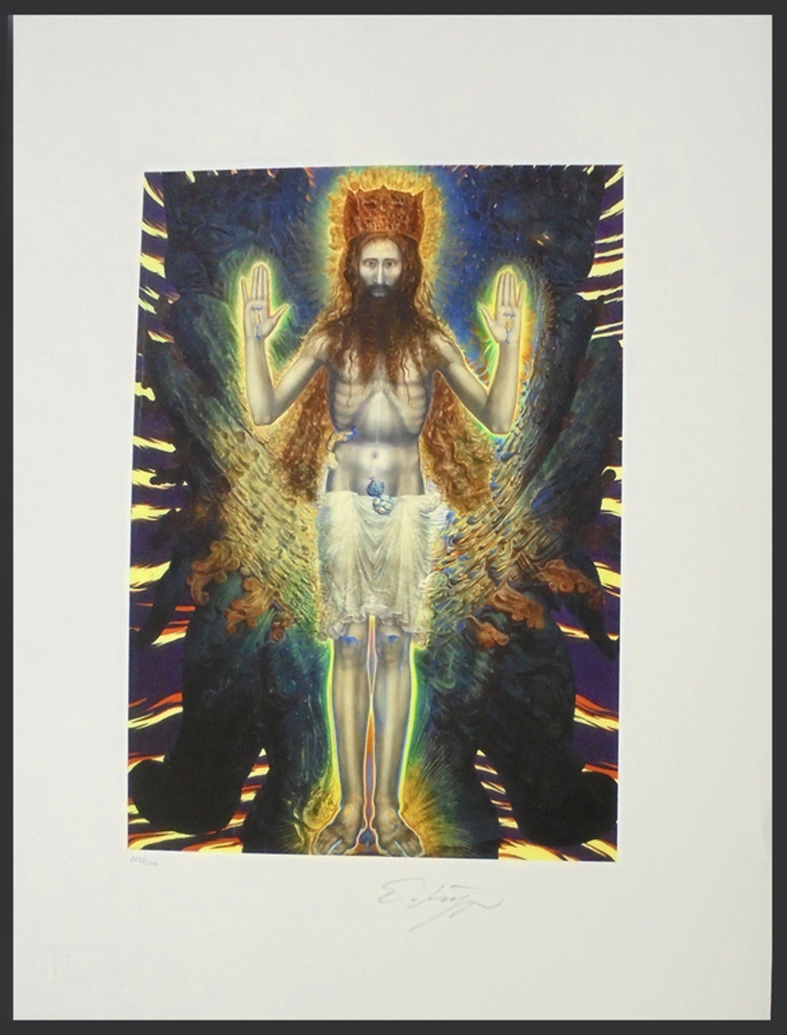 Ernst Fuchs - Jesus in den Schwingen des Cherubs - handgesigneerd kopen? Bied vanaf 89!