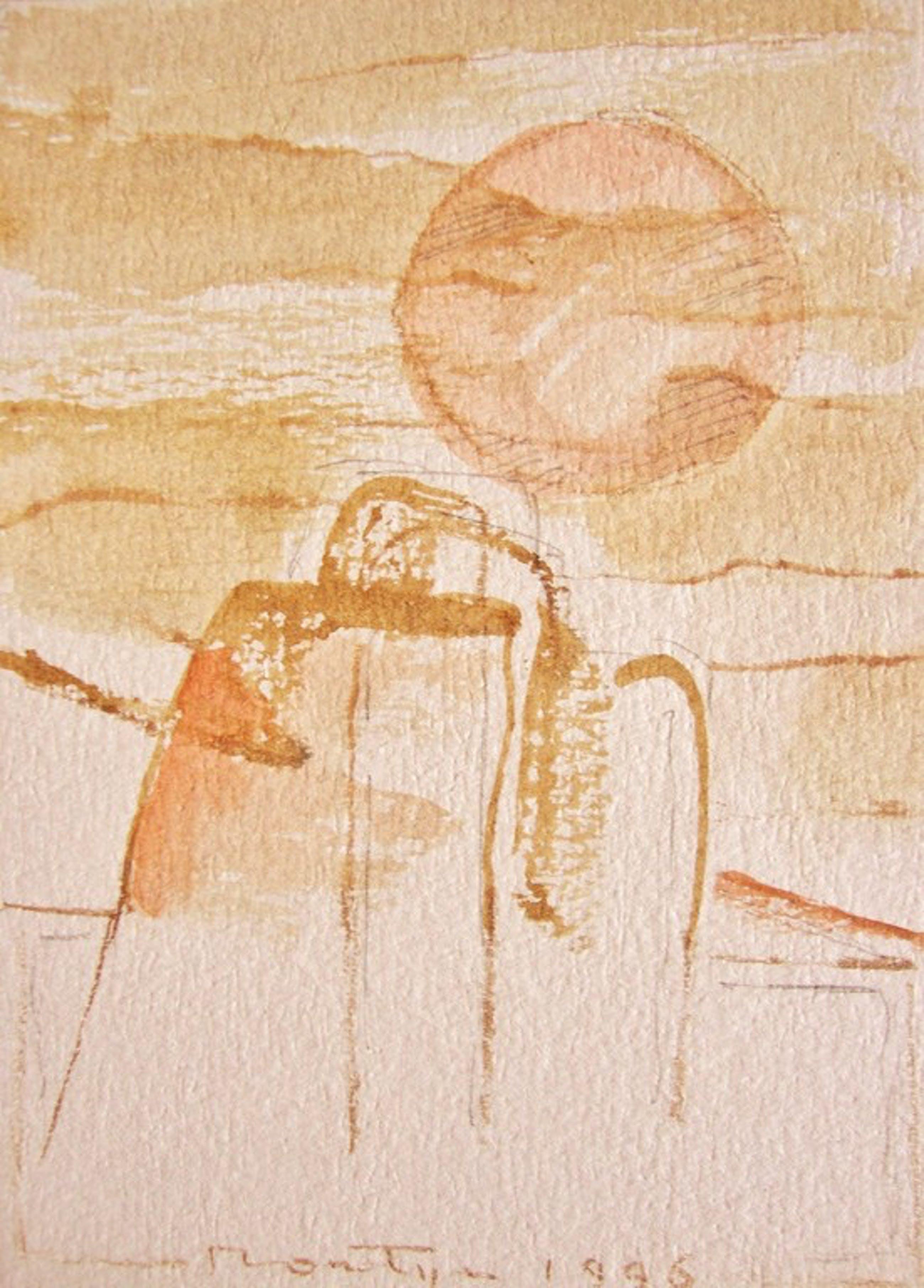JAN MONTYN  - tekening/aquarel - Mukdahan, the morning - Northern Thailand kopen? Bied vanaf 175!