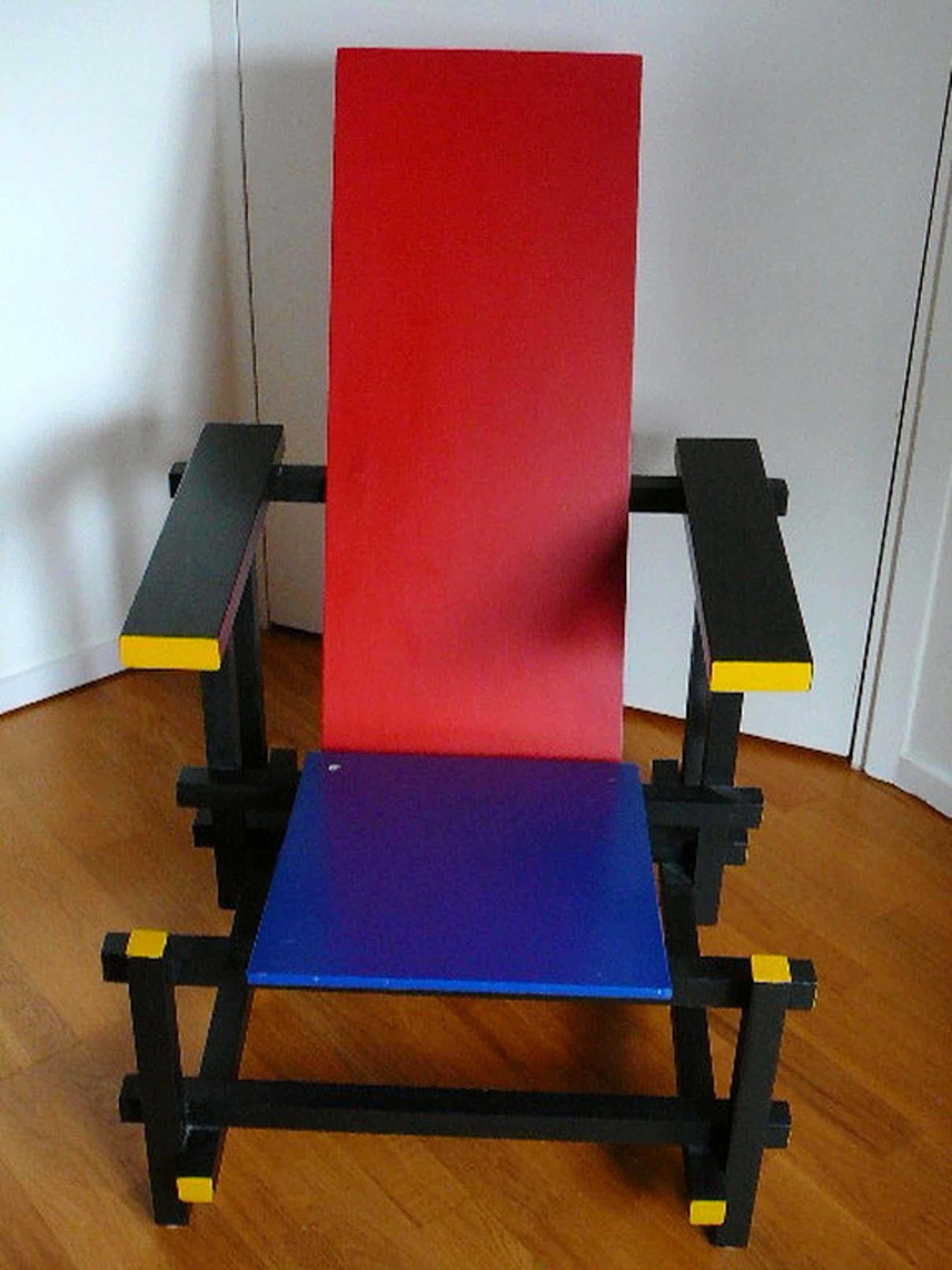 Rood-blauwe Rietveldstoel kopen? Bied vanaf 139!