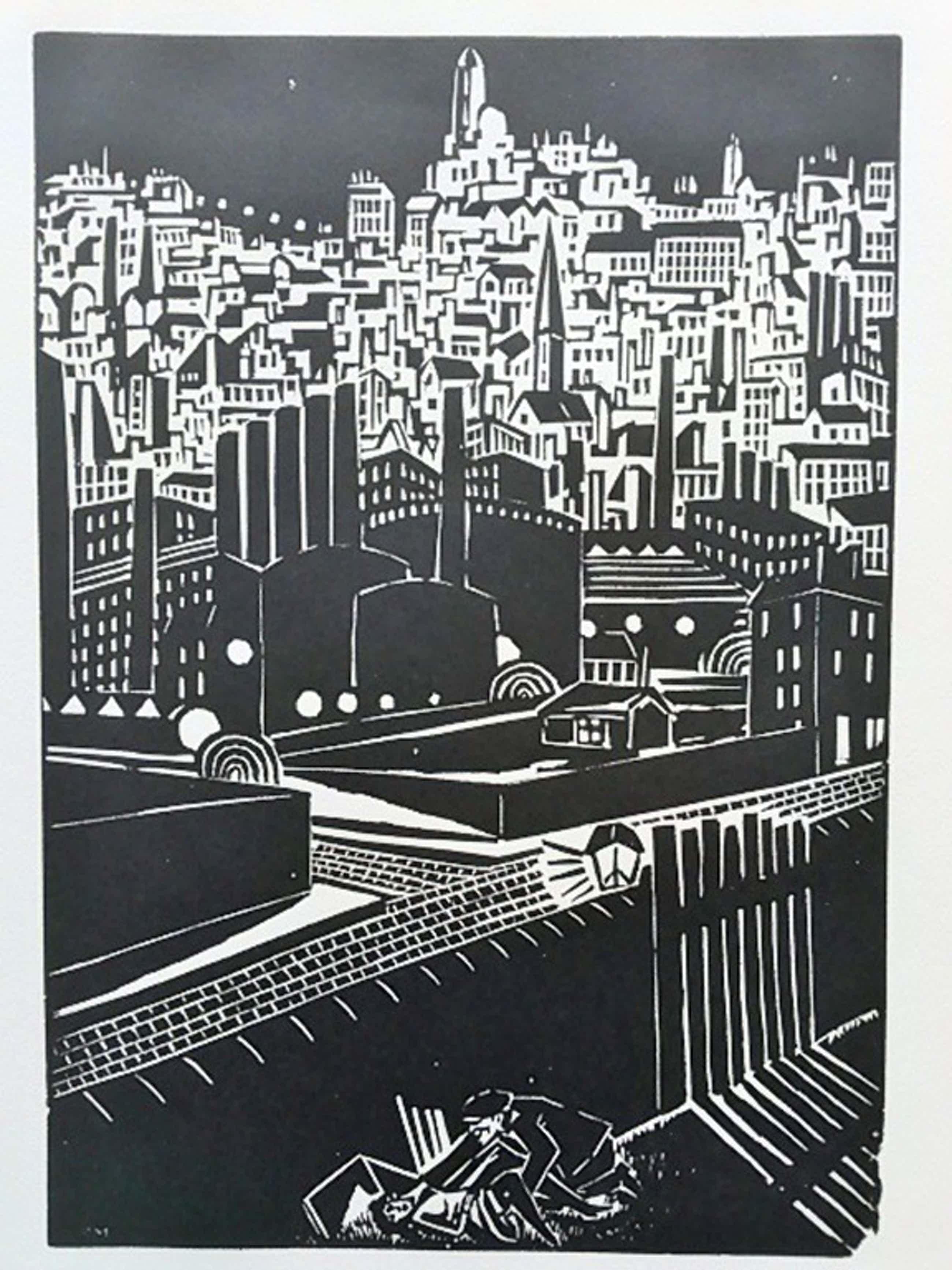 Frans Masereel, houtsnede, uit La Ville 1928 kopen? Bied vanaf 45!
