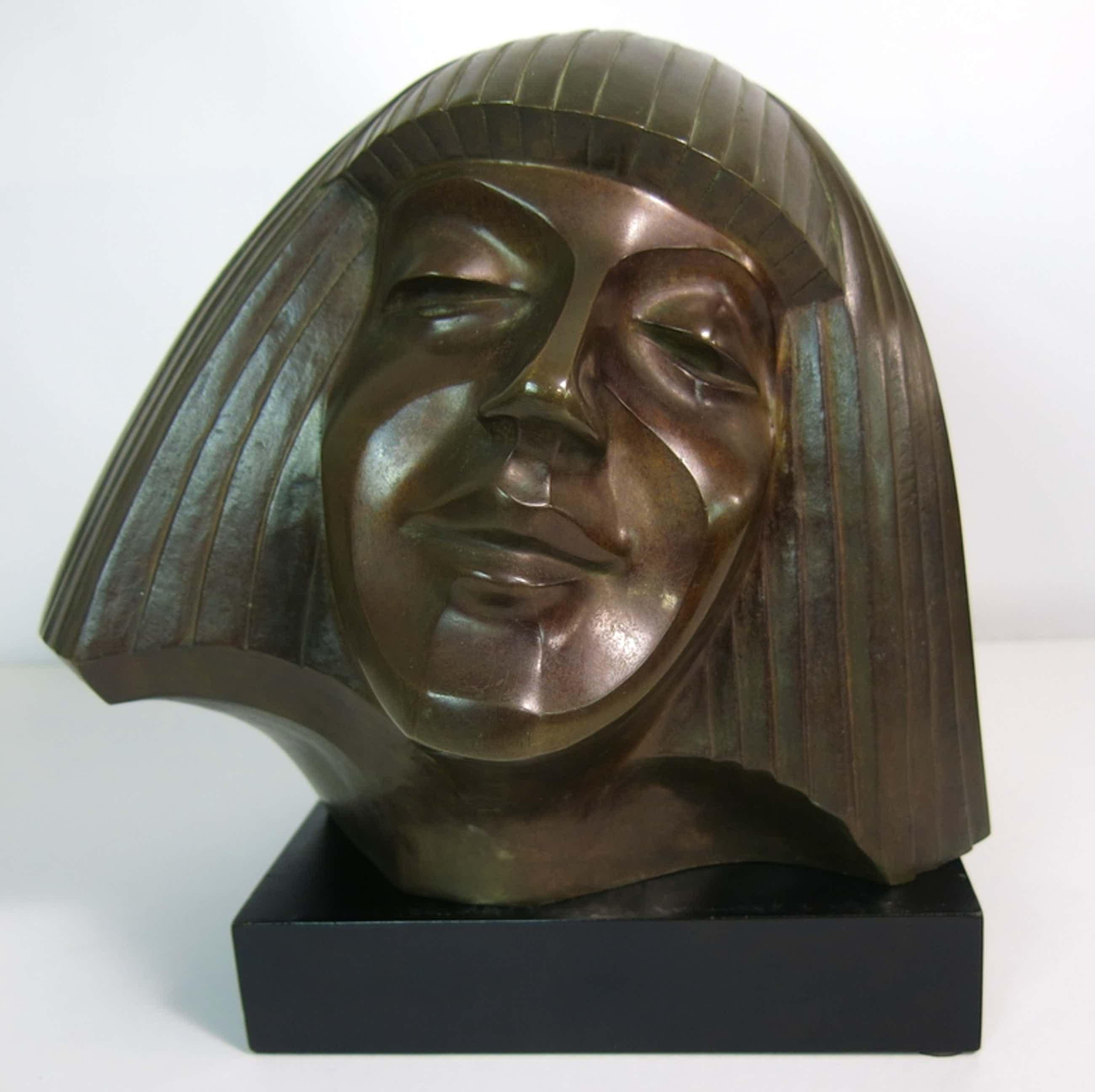 Cris Agterberg: Bronzen portret van Darja Collin  kopen? Bied vanaf 2750!