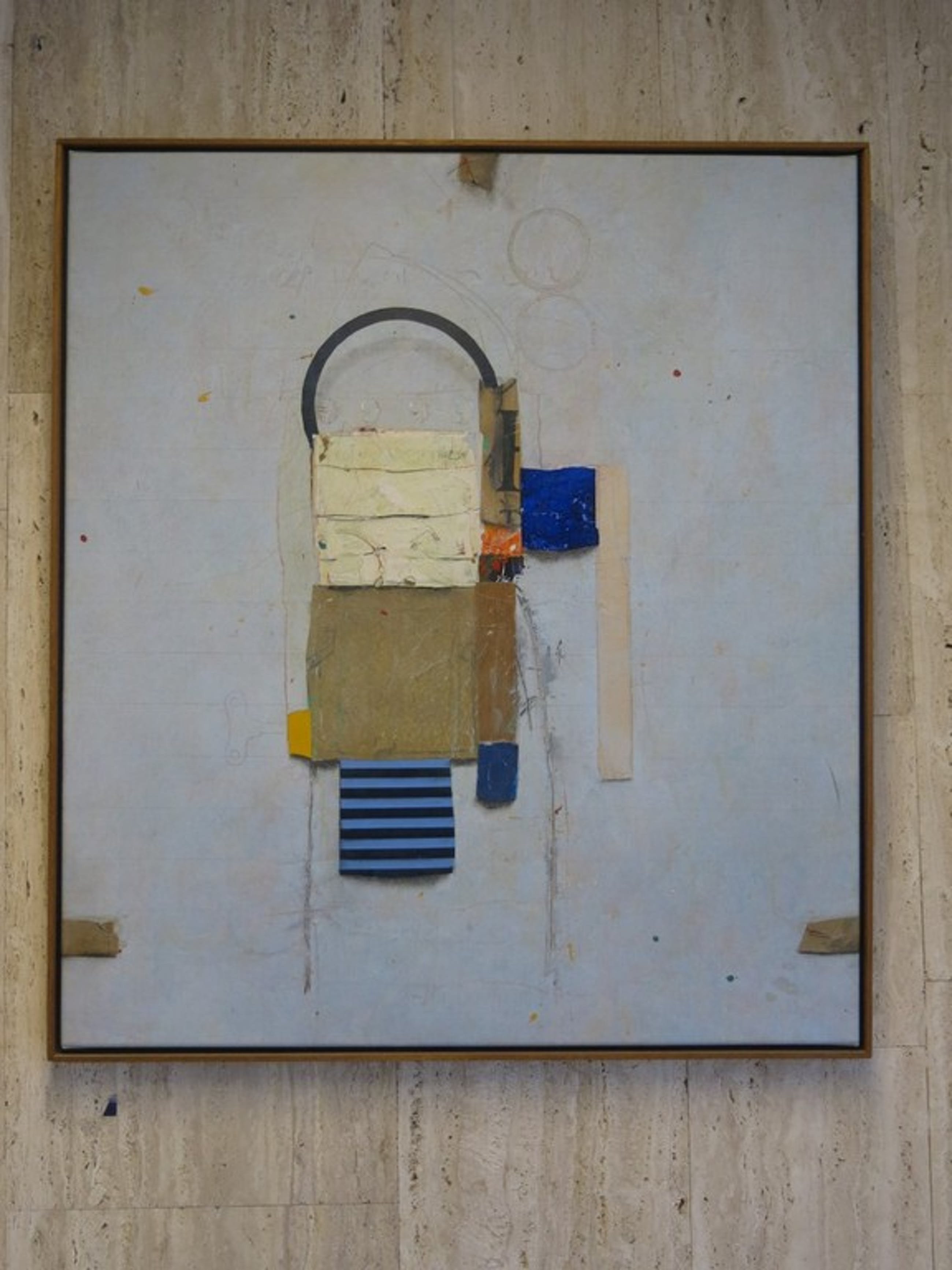 Cole Morgan: Olieverf en Collage op doek, 4 9's - Ingelijst kopen? Bied vanaf 2980!