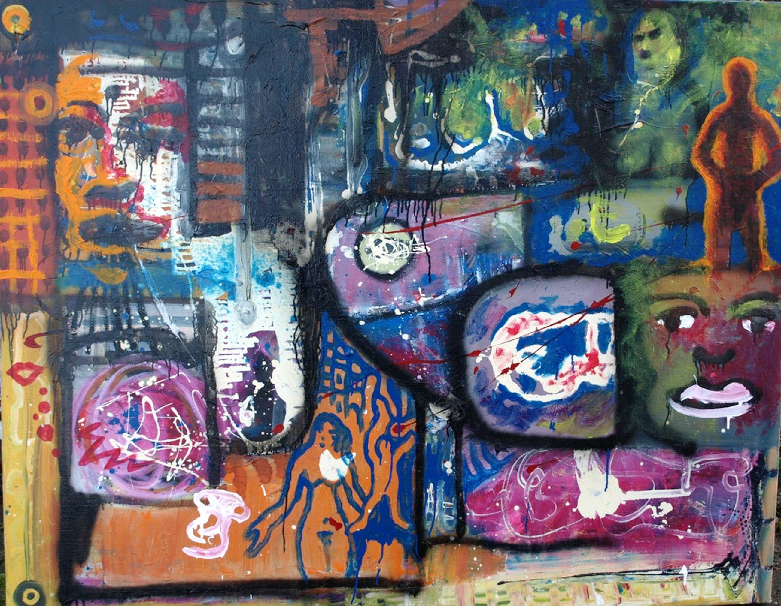Justus Donker : Olieverf op doek � Street Art - 135 x 170 cm - ca 2000 kopen? Bied vanaf 100!