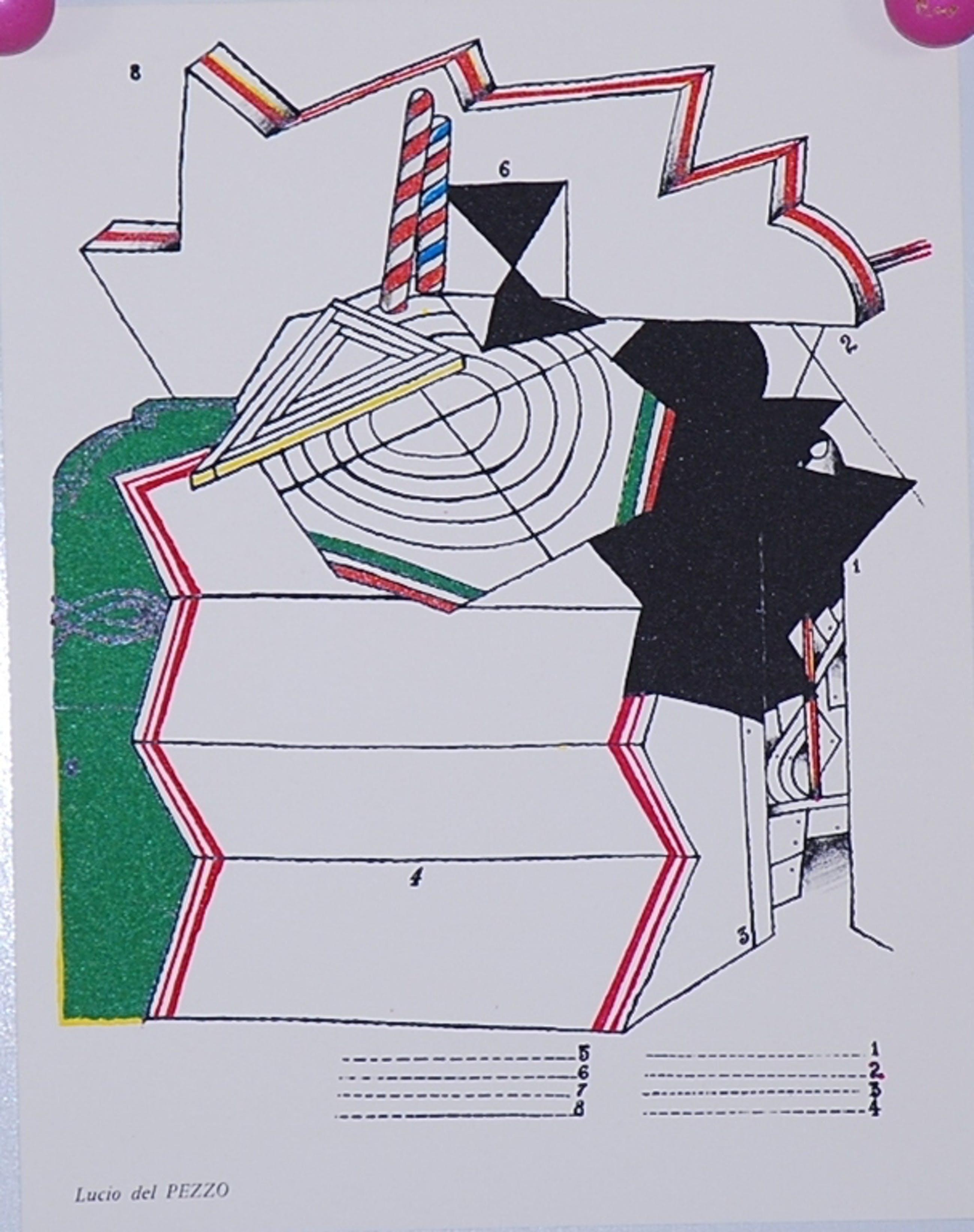 Lucio del Pezzo: Litho uit 1967. Compositie kopen? Bied vanaf 1!