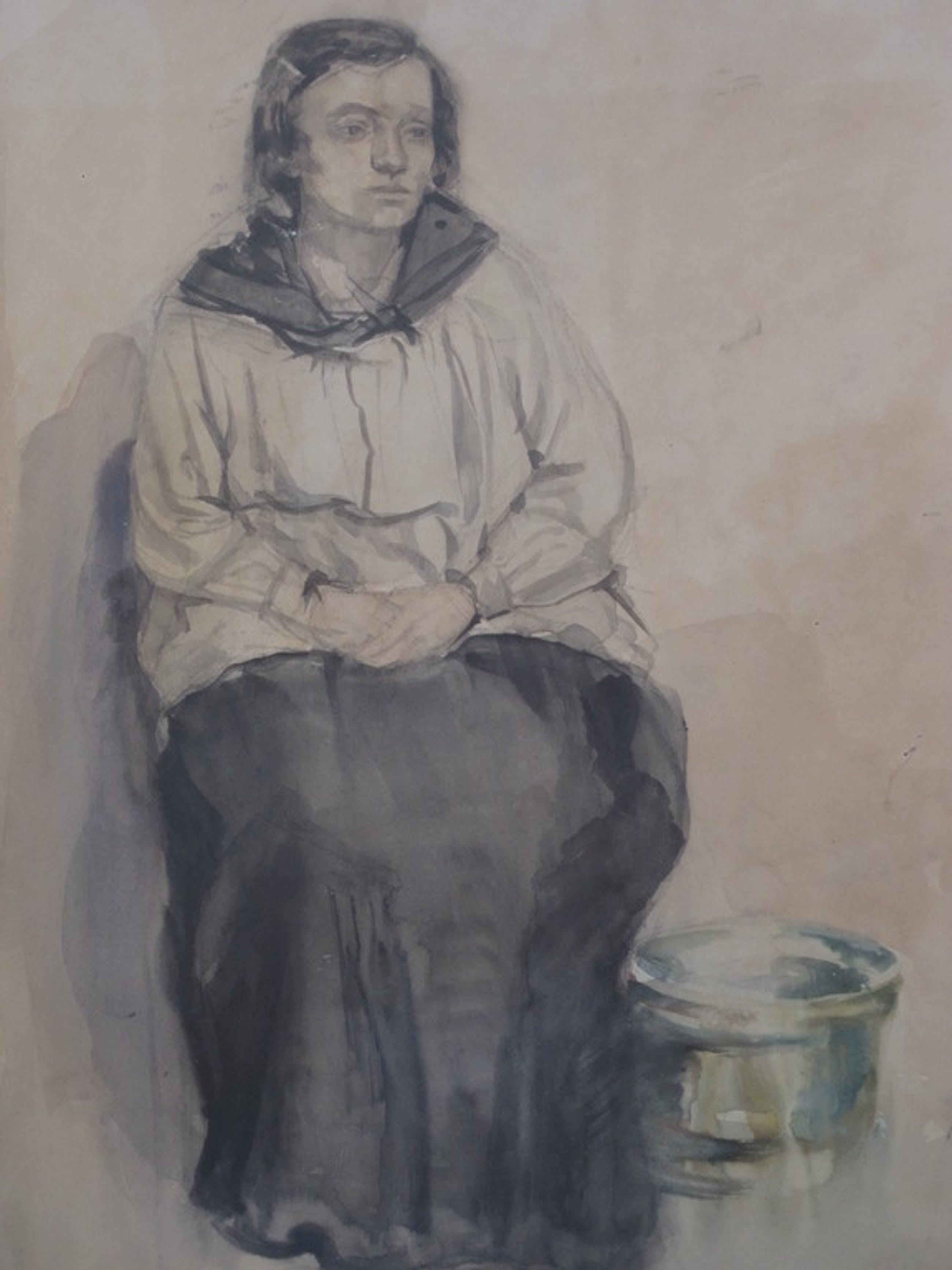 Reyer Godefrooy 1911-1942 aquarel portret zittende dame ca. 1930 kopen? Bied vanaf 1!