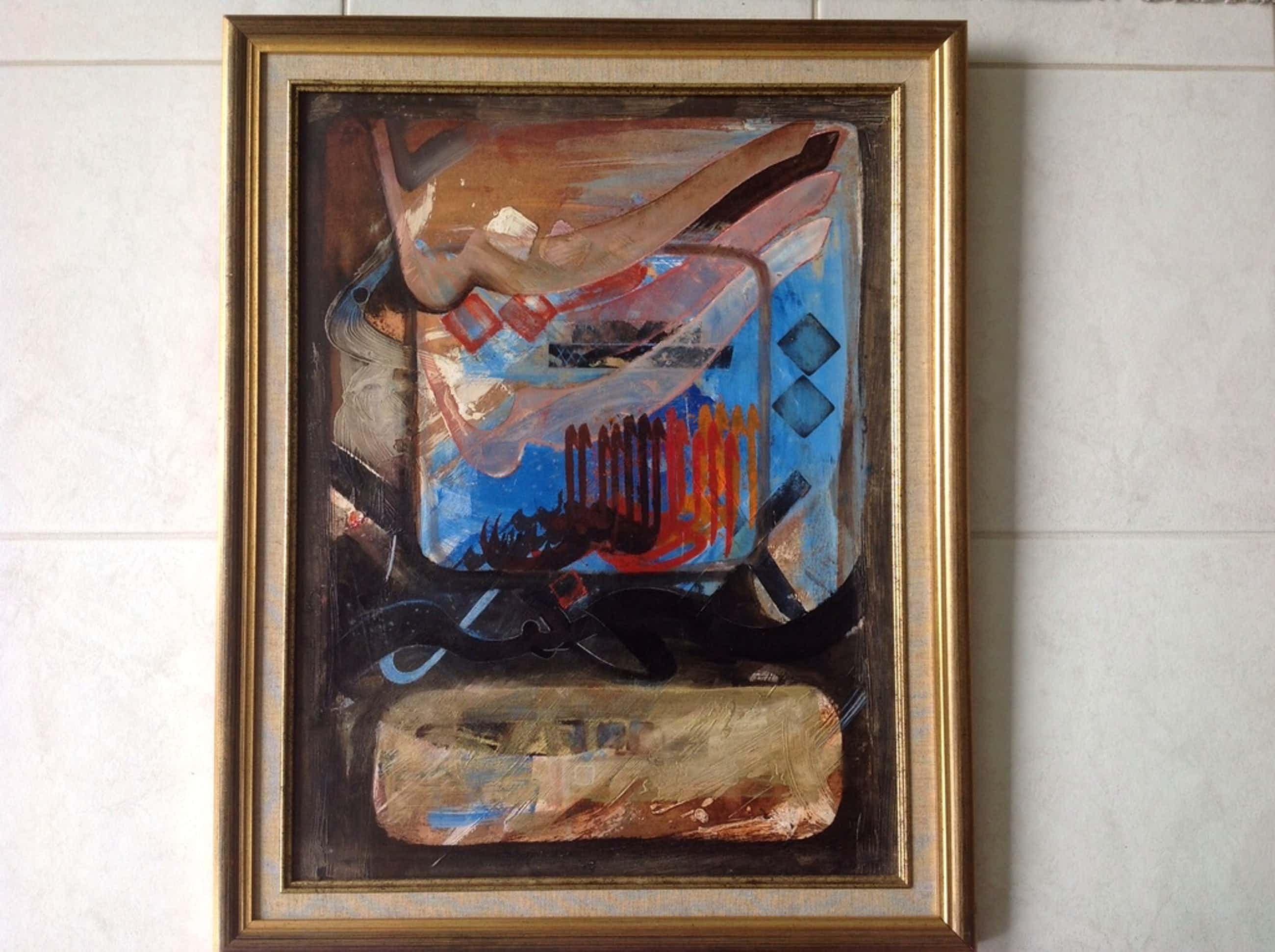 Chabab: schilderij collage , de tekens III, kopen? Bied vanaf 260!