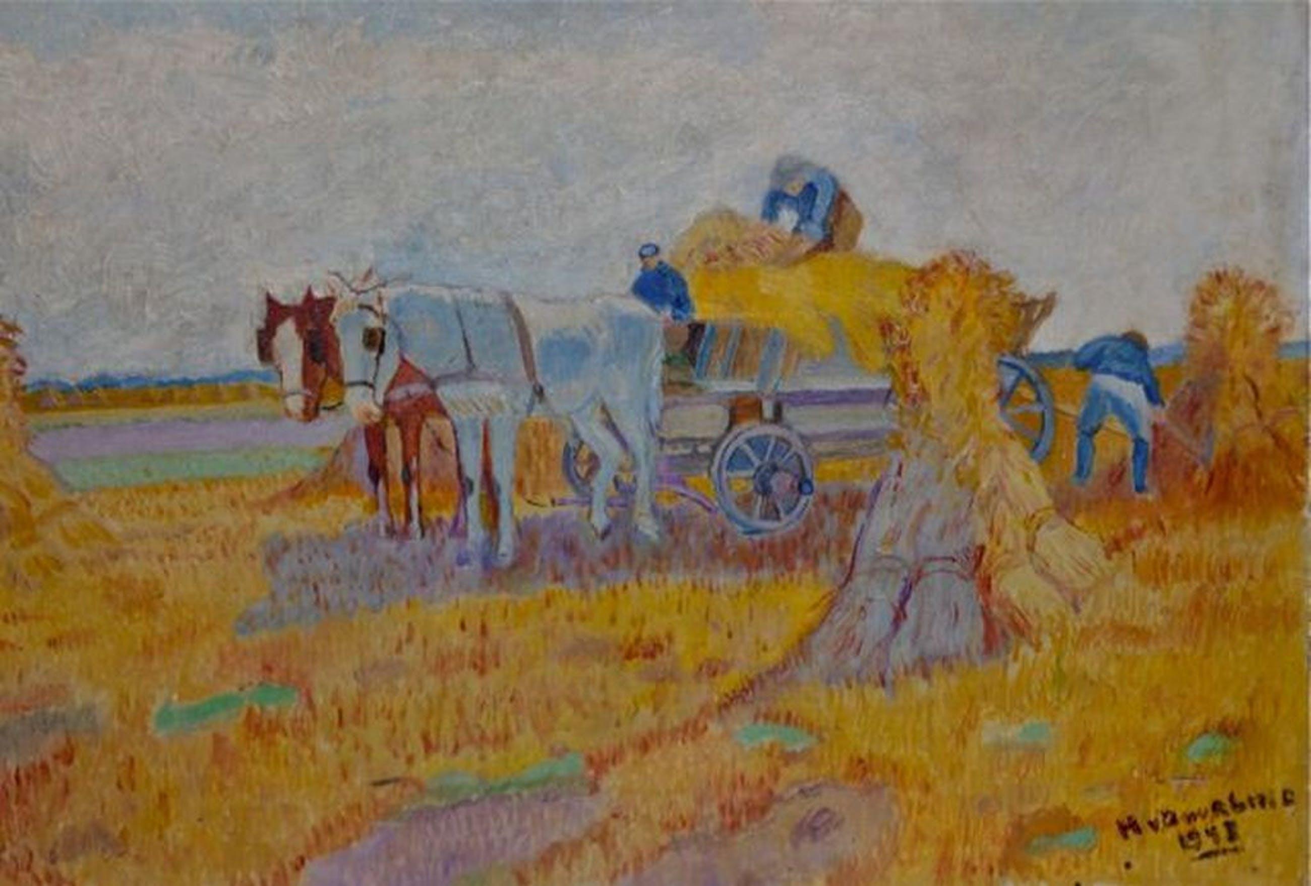 schilderijtje gesigneerd door H Duurling 1948 kopen? Bied vanaf 20!