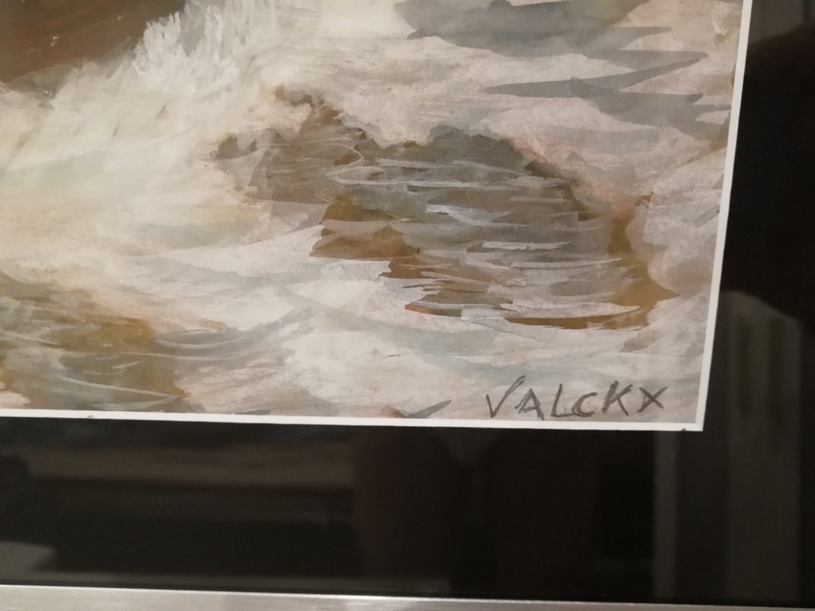 prachtige marine van Petrus Valckx 1920 - pastel op karton - gesigneerd kopen? Bied vanaf 100!