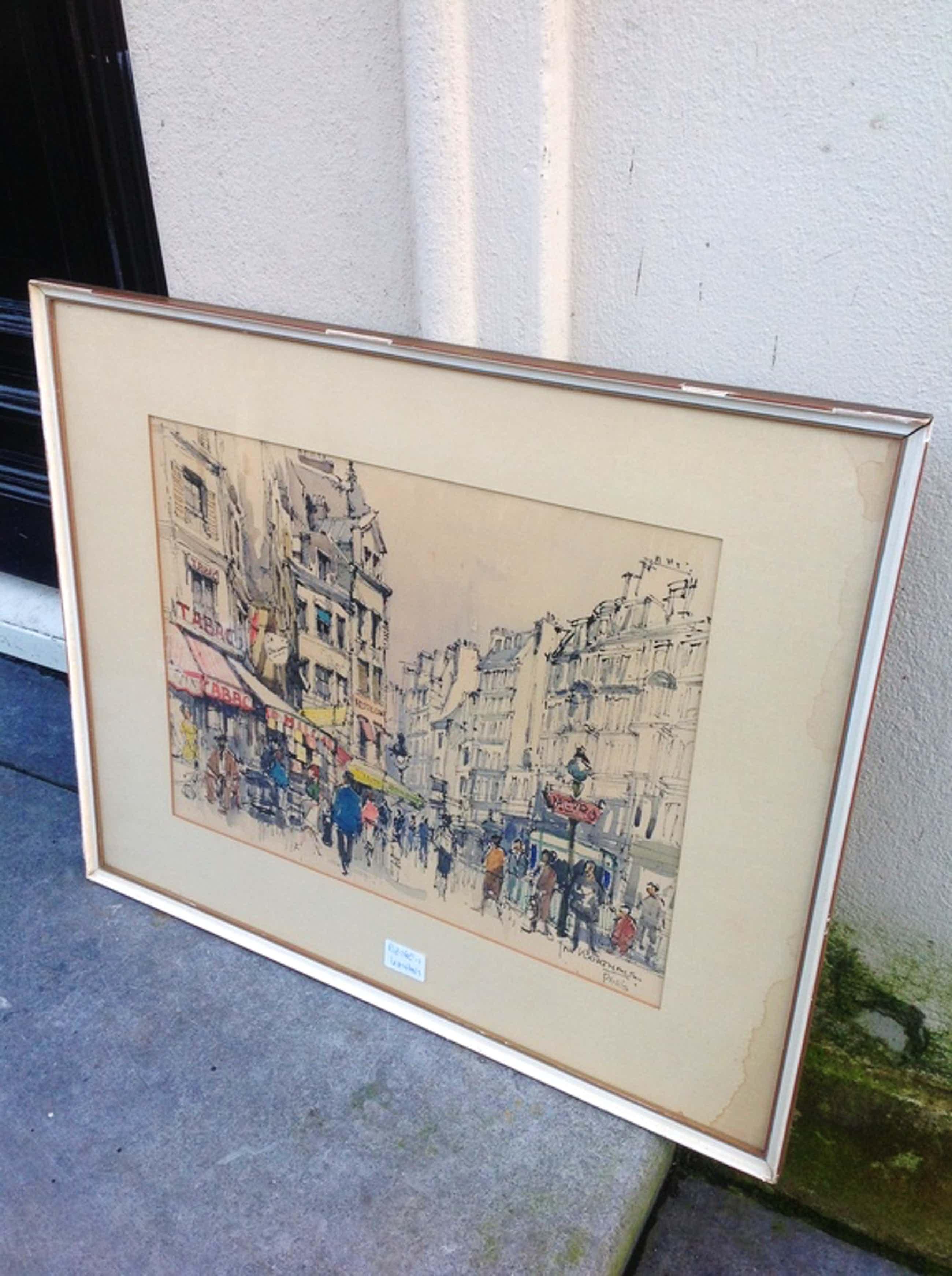 Jan Korthals, stadsgezicht, Paris kopen? Bied vanaf 75!
