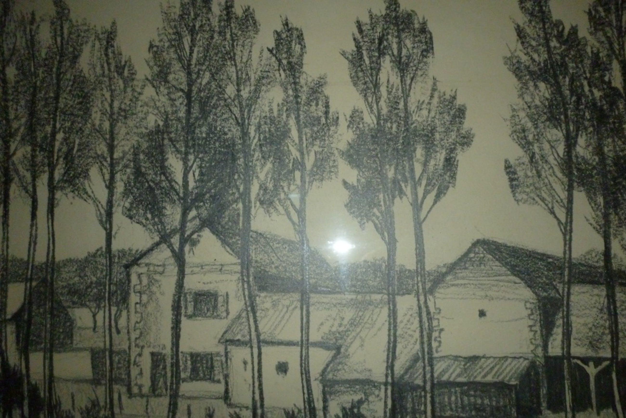 Tekening Ge Hurmans  Boerderij in St Ustre Frankrijk  kopen? Bied vanaf 100!