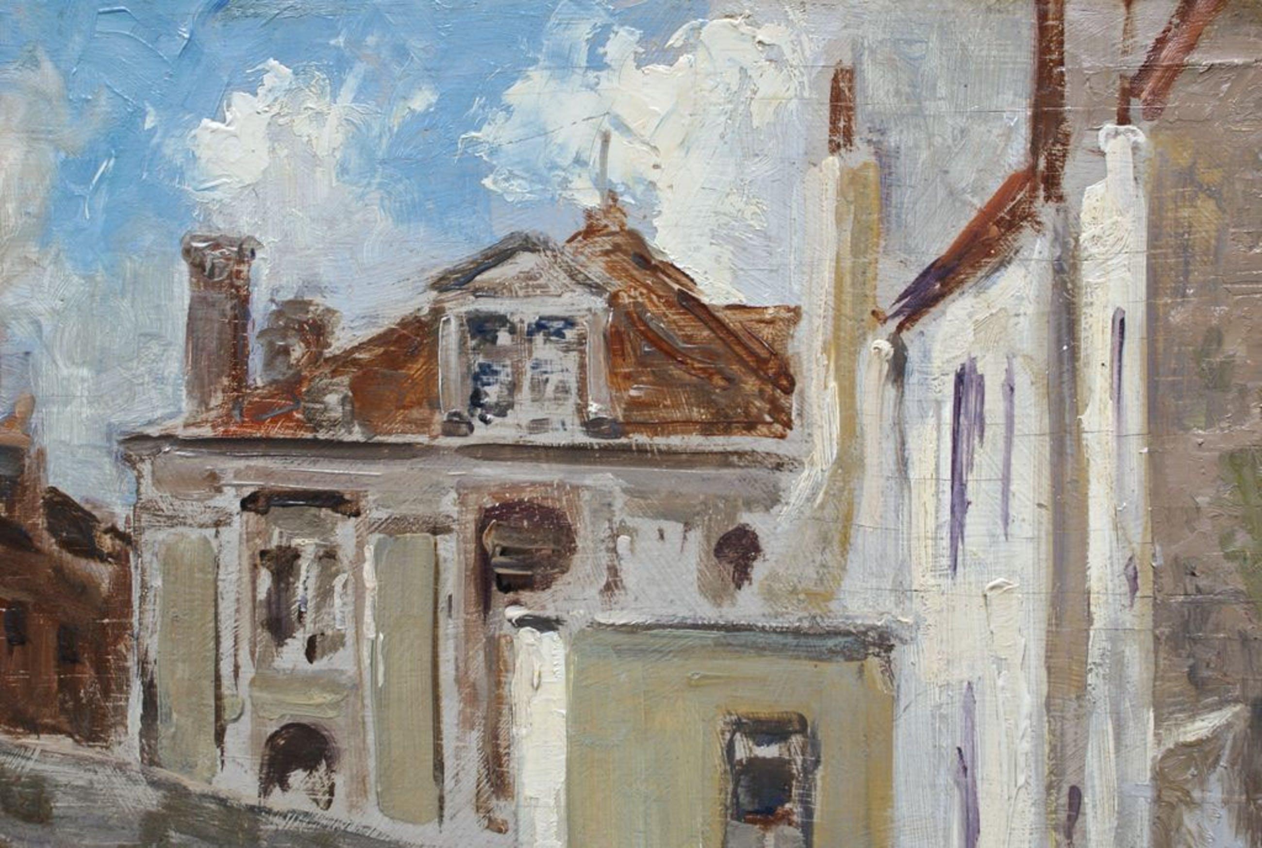 """Charles van Van Roose - Charles van Roose ( 1883 - 1960 ) - Olie op Paneel """"Gruuthuse Museum te Brugge"""" kopen? Bied vanaf 150!"""