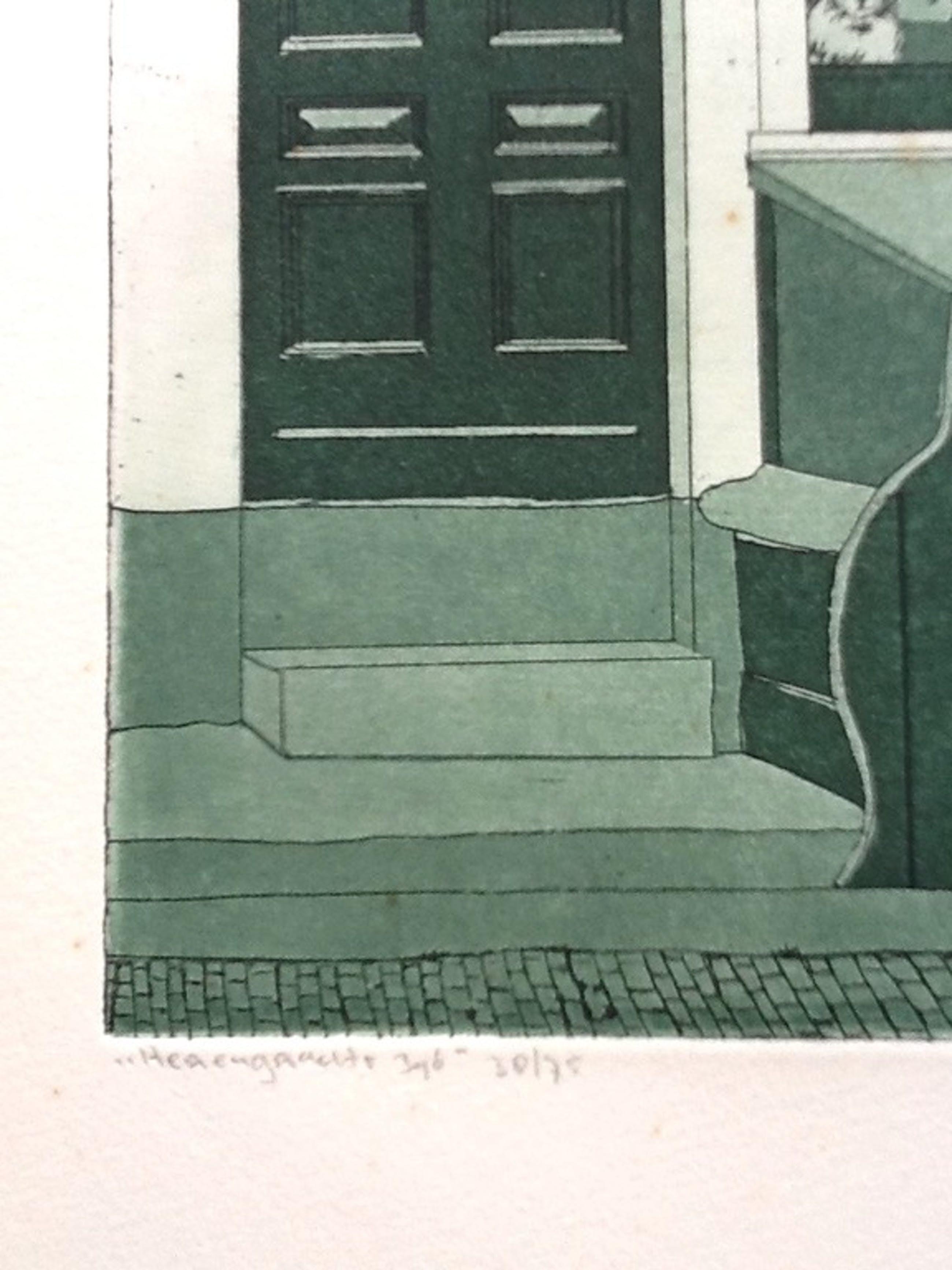 Lucie Meulendijks, ets en aquatint,Herengracht Amsterdam, gesigneerd,38/75 kopen? Bied vanaf 25!