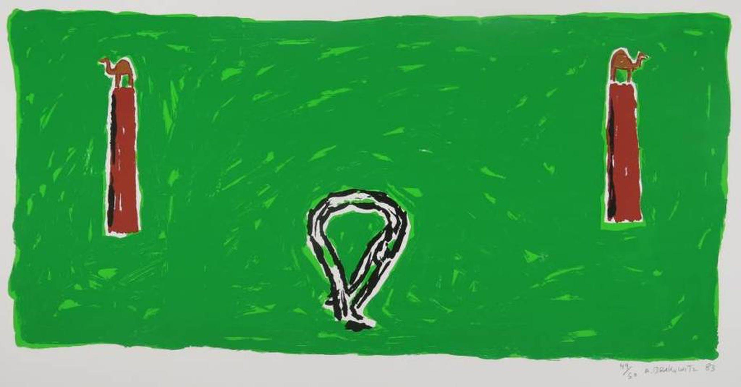 Amnon Berkowitz: Zeefdruk, Compositie groen kopen? Bied vanaf 1!