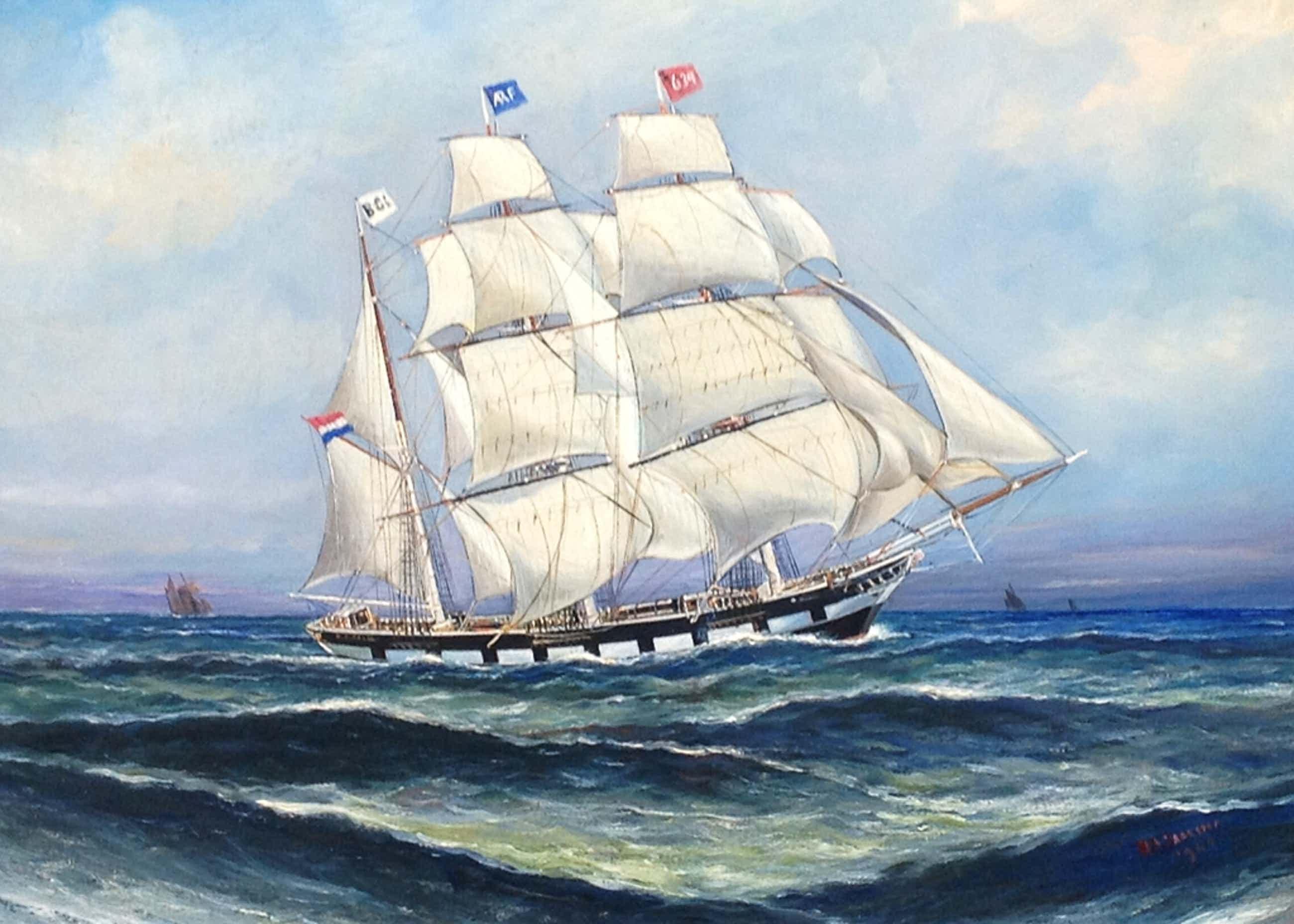 Haaike Abraham Jaarsma, Zeegezicht met schip kopen? Bied vanaf 150!