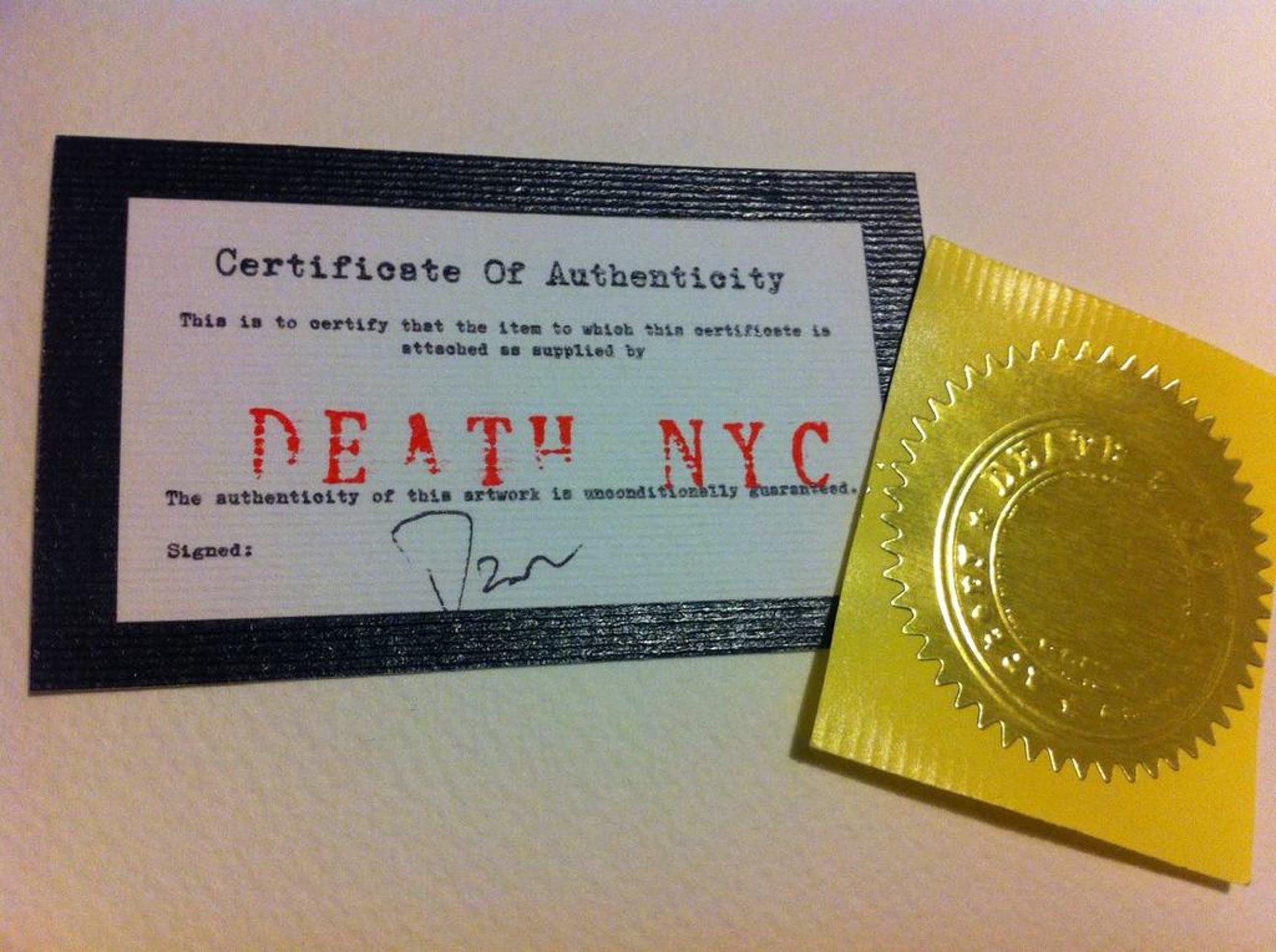 DEATH NYC: 'Spicy Spray' - AP - met COA kopen? Bied vanaf 35!