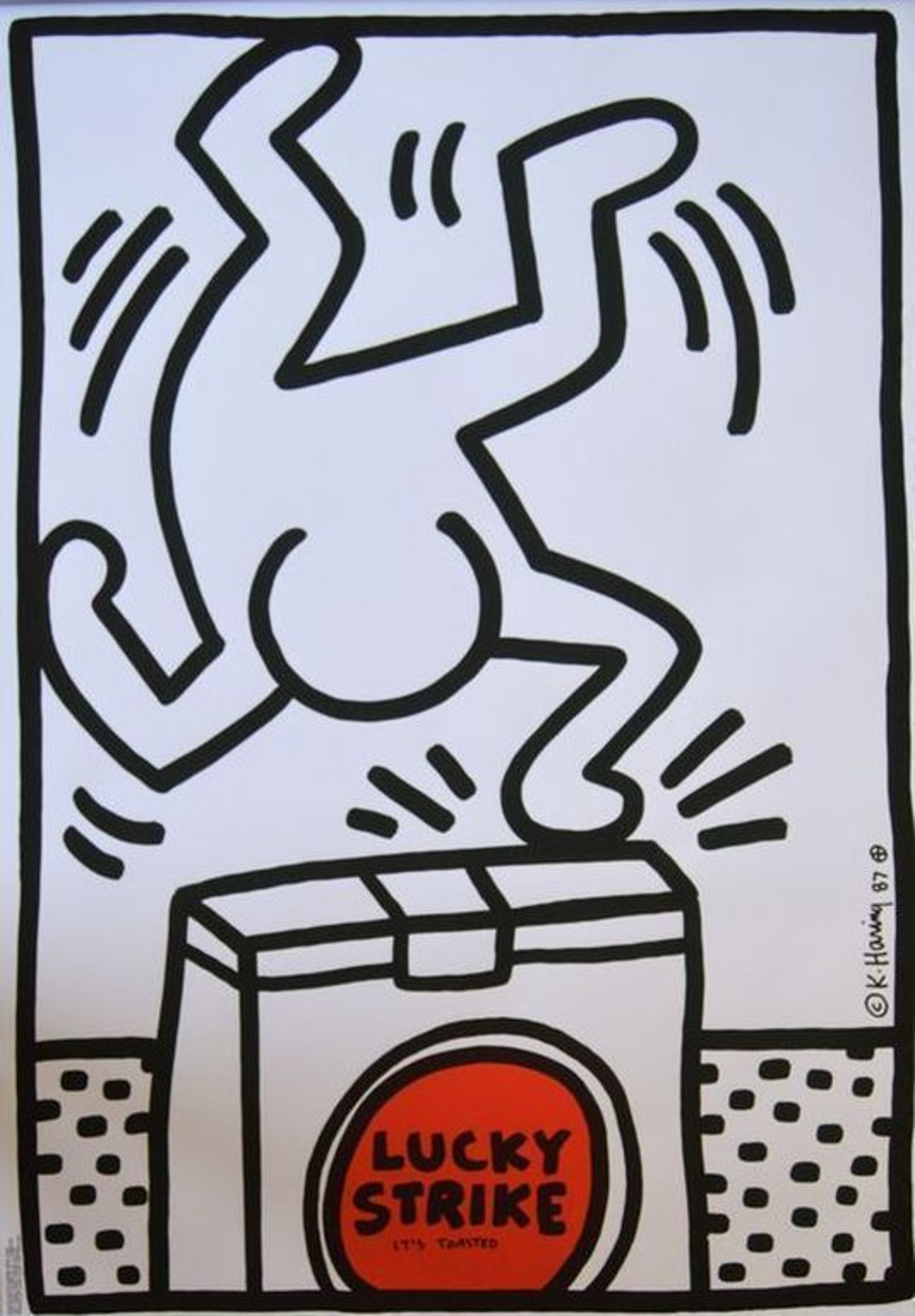 Keith Haring: Lucky Strike (blue, yellow and white) kopen? Bied vanaf 229!