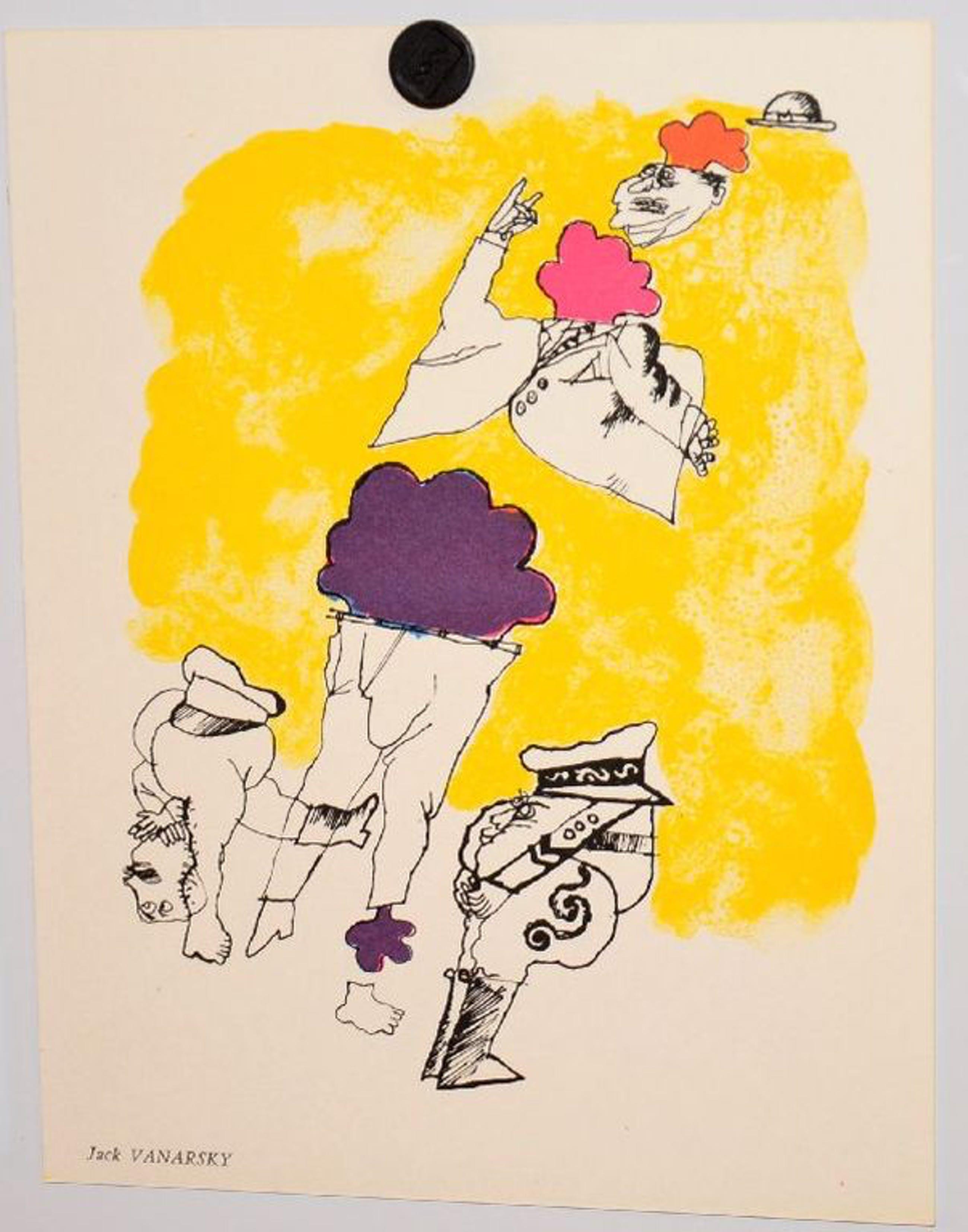 Jack Vanarsky: Litho uit 1967. Figuren kopen? Bied vanaf 1!