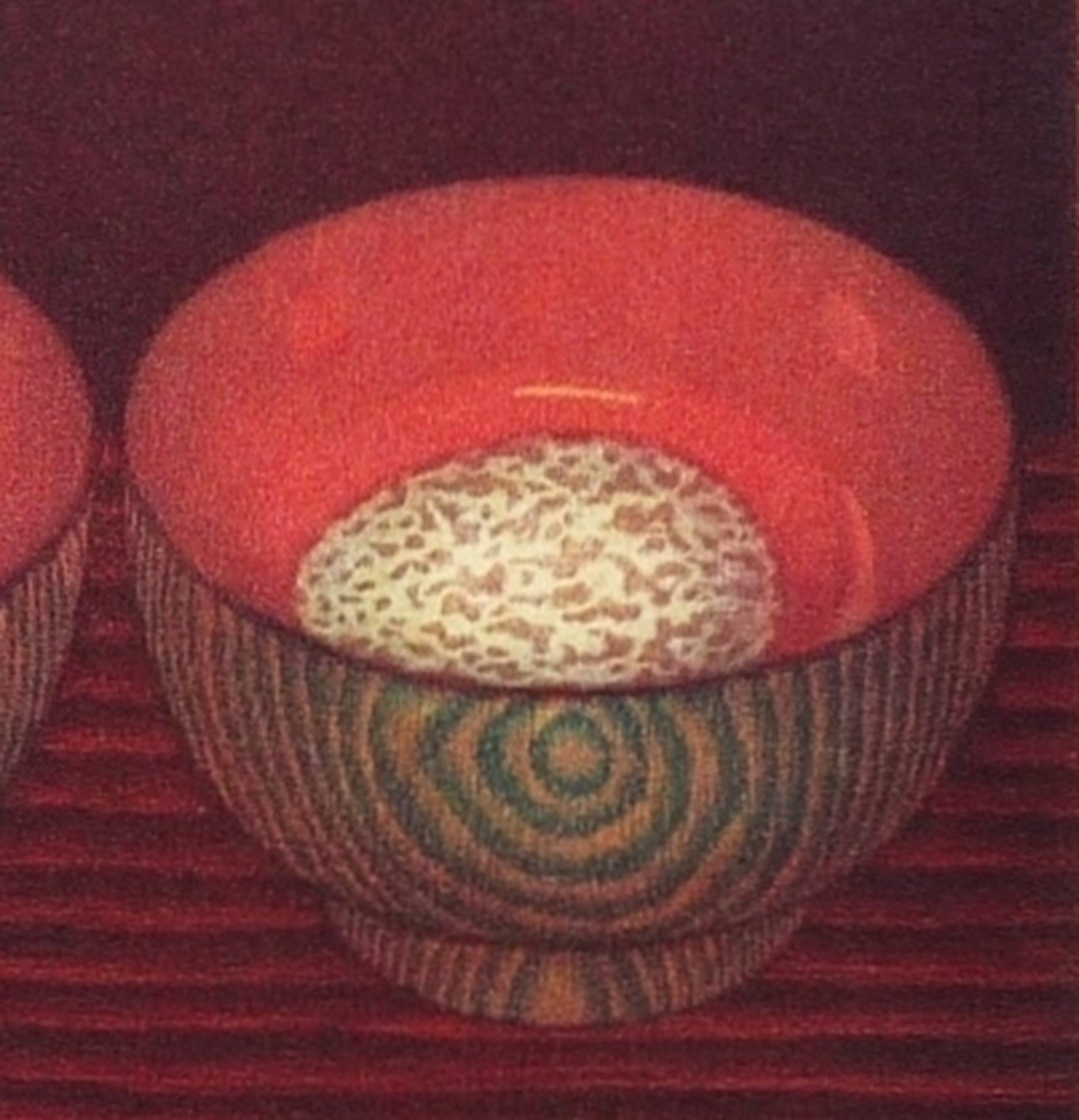 Joop Vegter: Kleurenets, Japanse kommen met eieren, Gesigneerd, 1996 kopen? Bied vanaf 100!