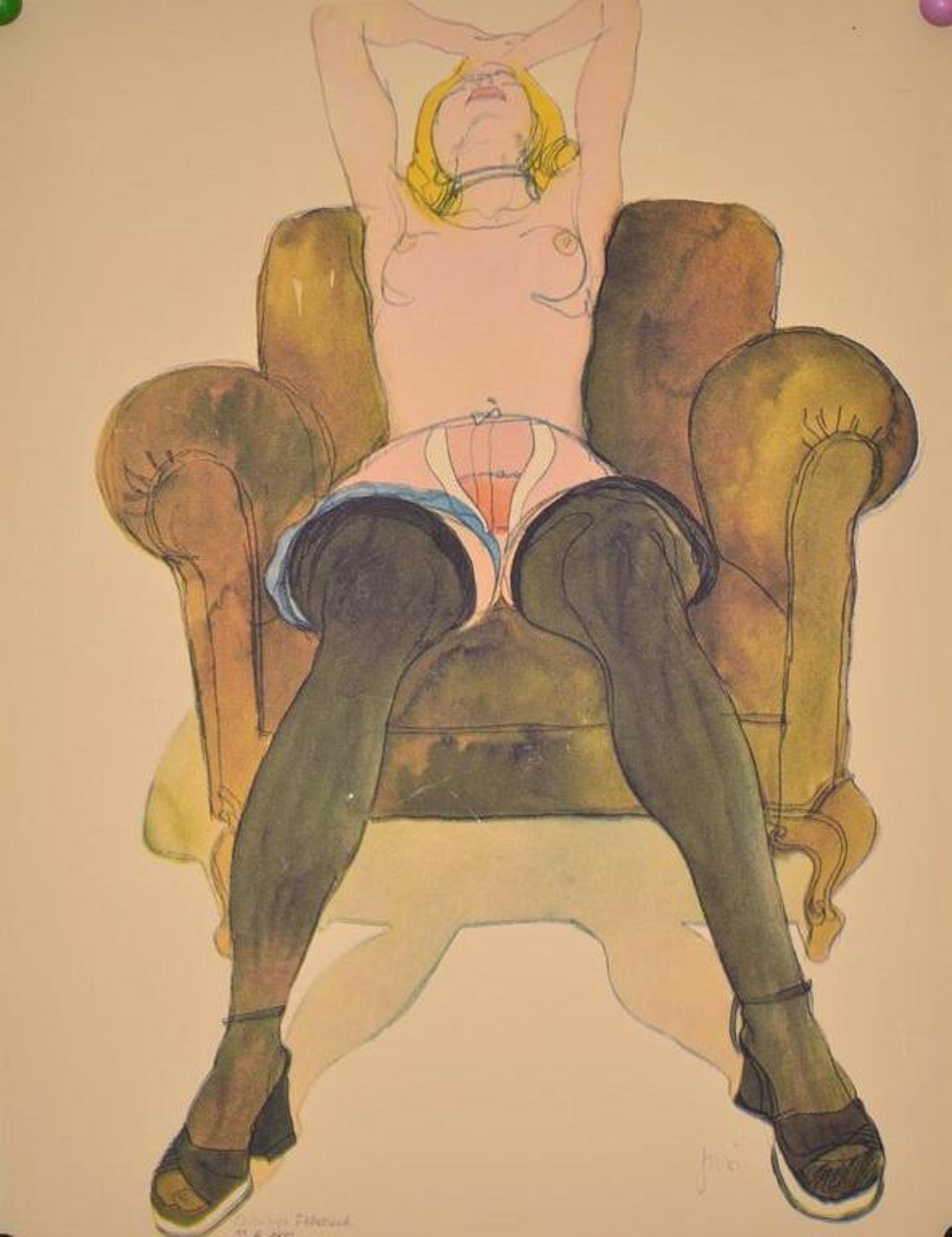 Onbekend: Offset print 'Vrouwelijk naakt in het groen', 1972 kopen? Bied vanaf 1!