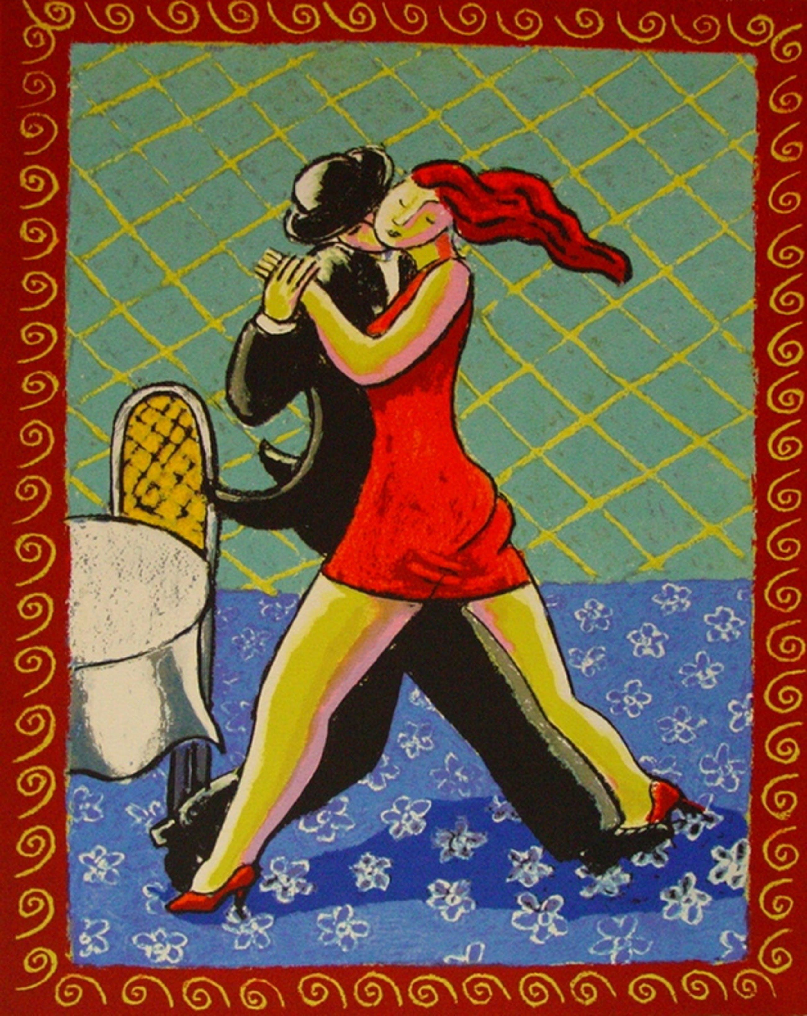 Jacques Tange, zeefdruk: Last Dance kopen? Bied vanaf 60!