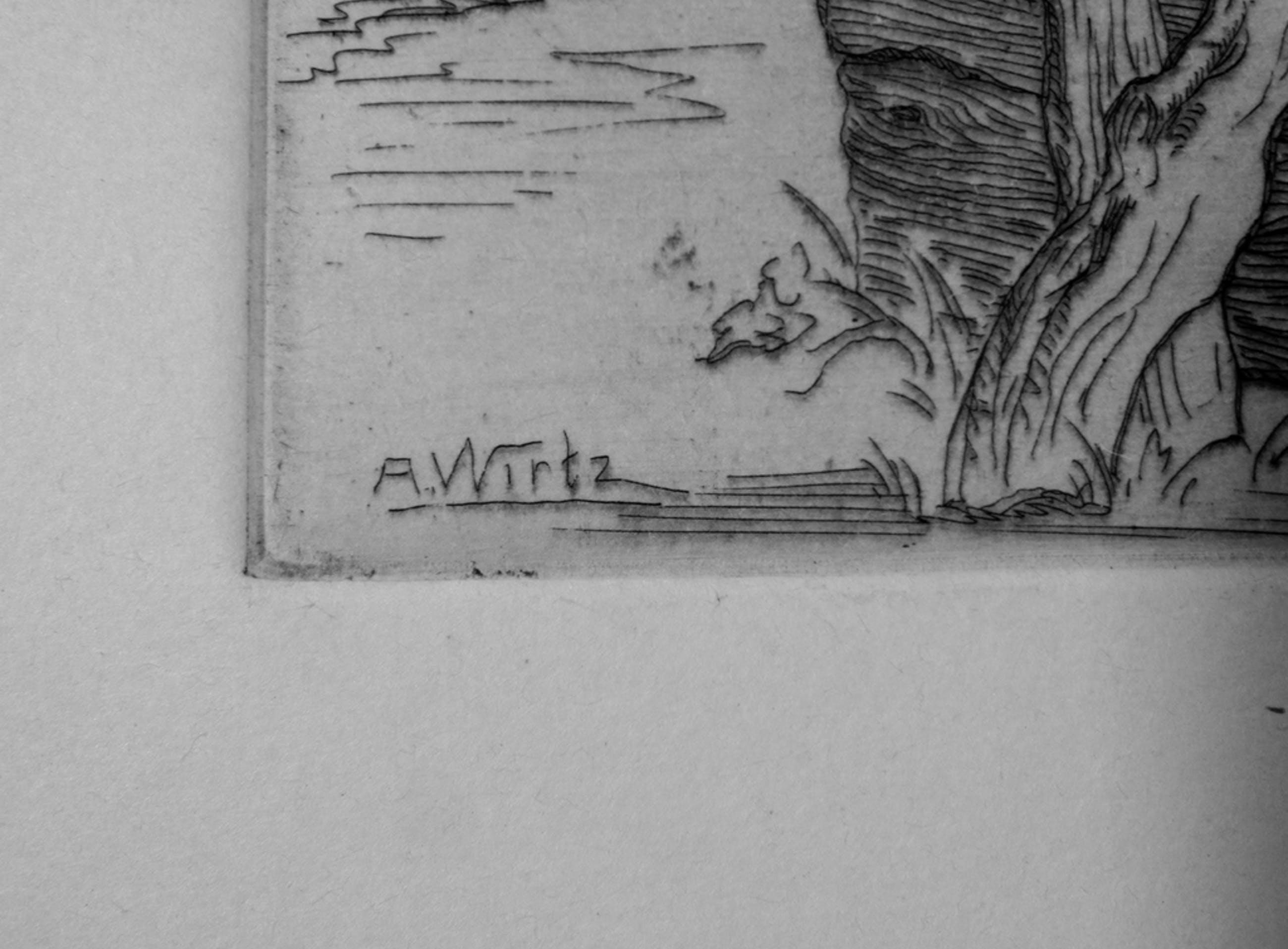 Anton Wirtz (1872-1945) Breda - ets waterput kopen? Bied vanaf 1!