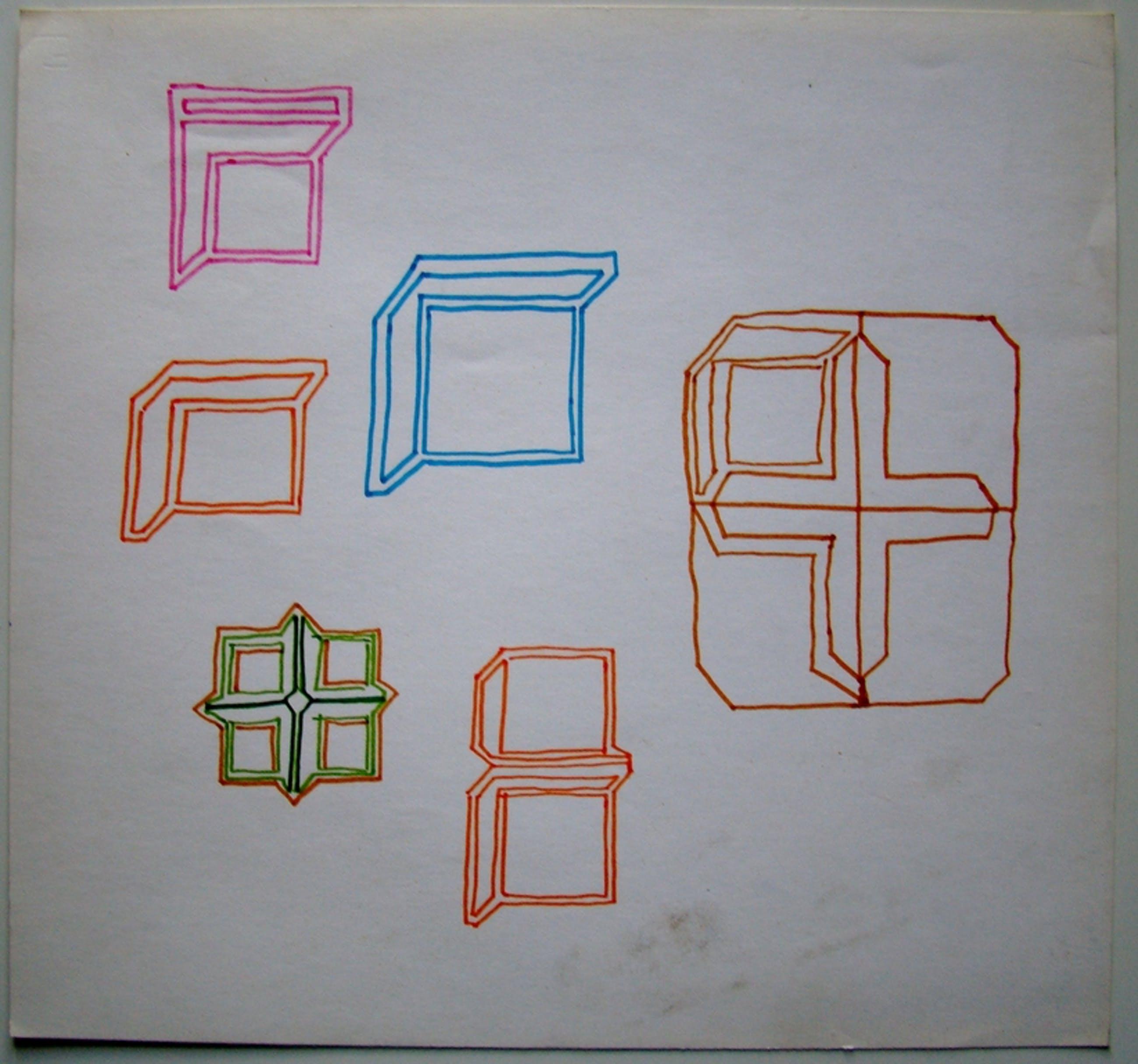 Ernst Vijlbrief (1934-2010) - drie schetsen jaren 60 kopen? Bied vanaf 1!