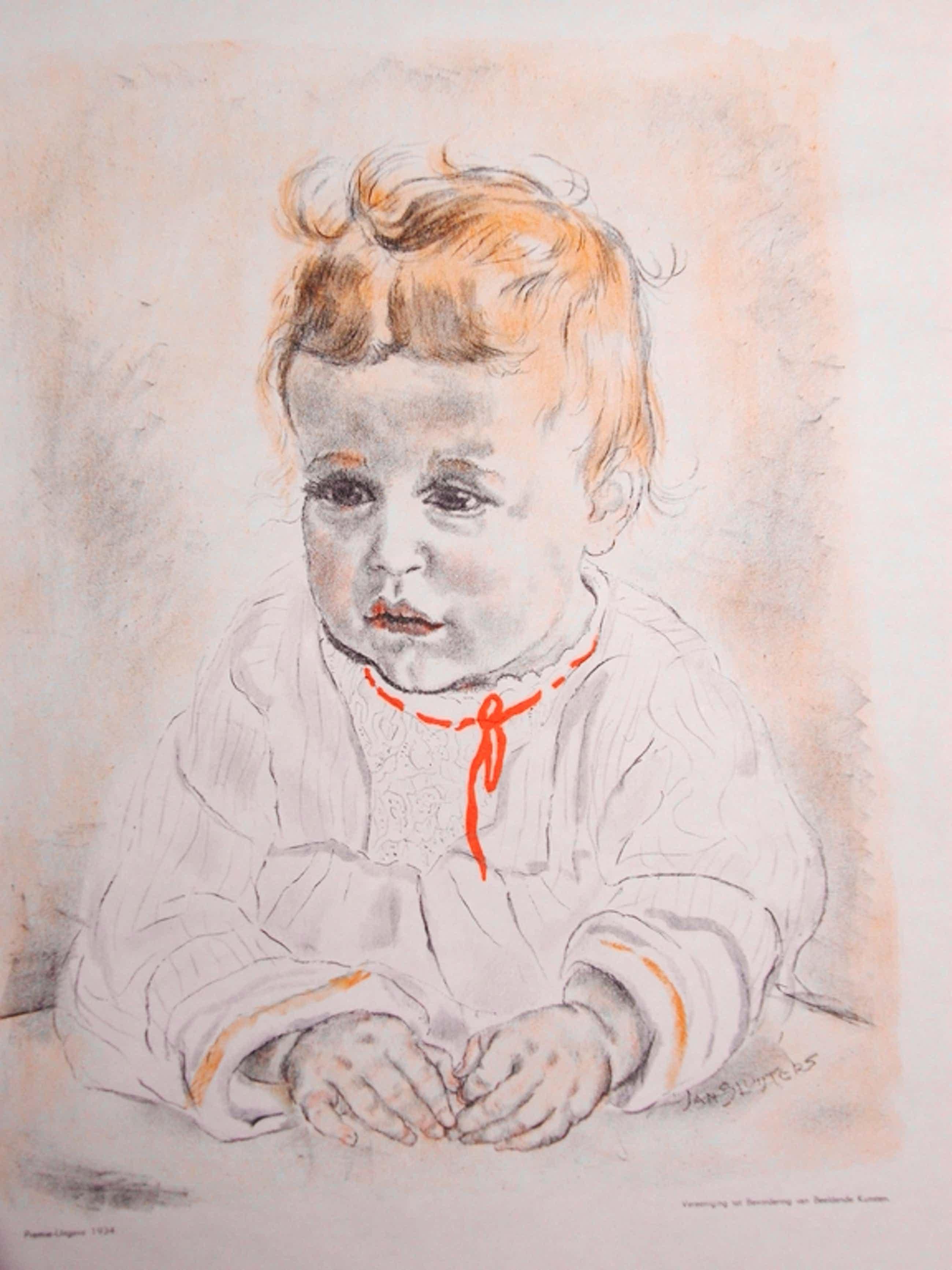 Jan Sluijters: Kleurenlitho, kinderportret kopen? Bied vanaf 60!