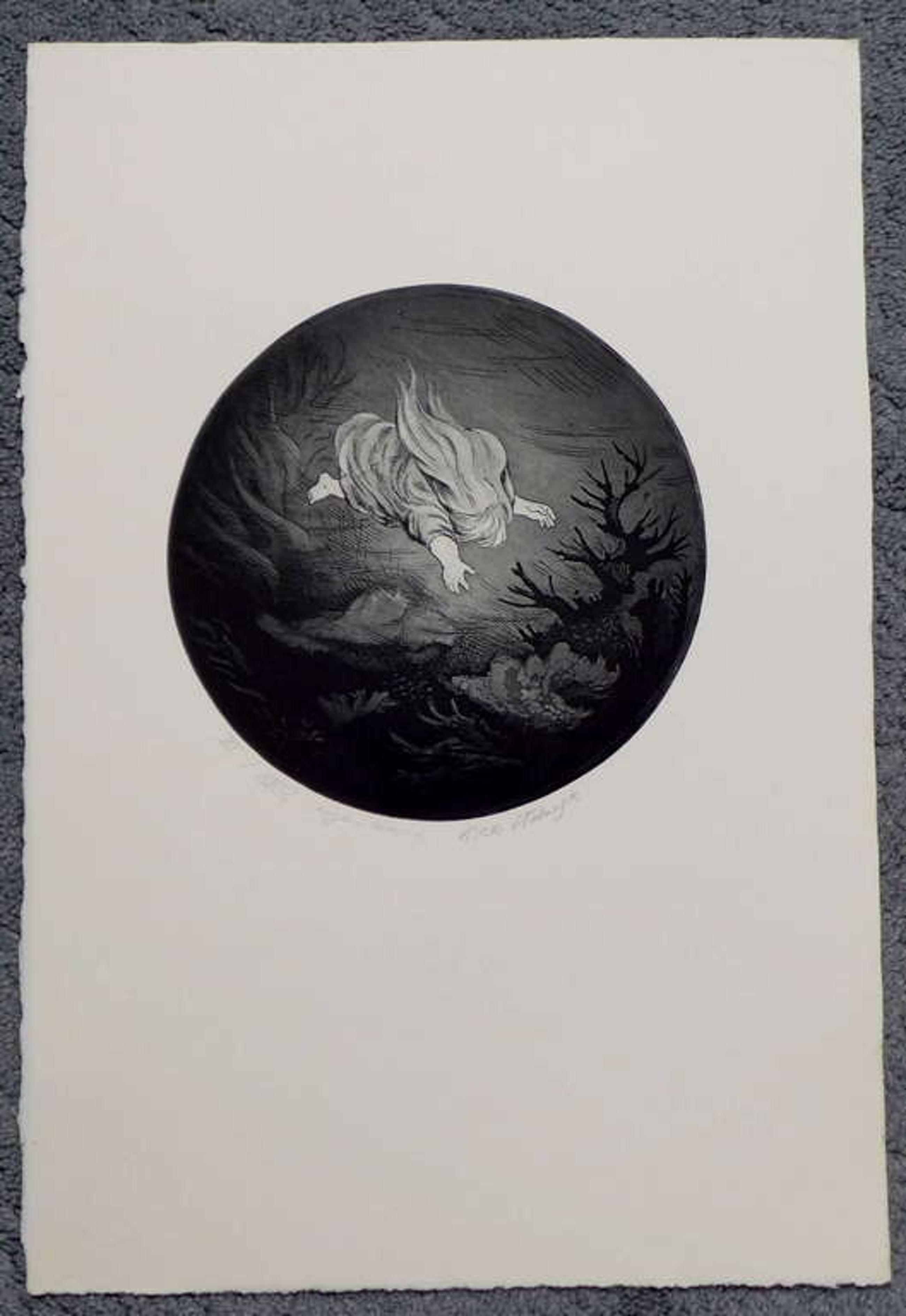 Dick Stolwijk, ets, oplagenummer XI / XXV doorsnede 17 cm. bladformaat 39,4 x 26 kopen? Bied vanaf 40!