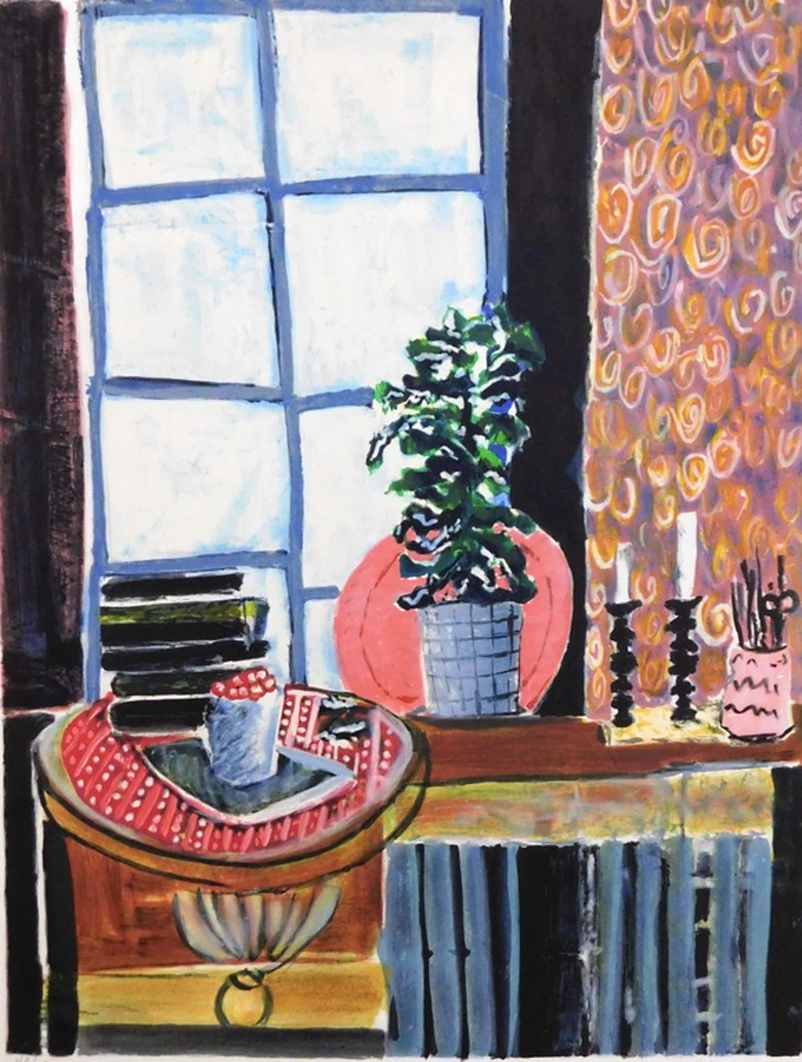 Wendy Chazin - kleurenlithografie - Still-life with Candlesticks kopen? Bied vanaf 40!