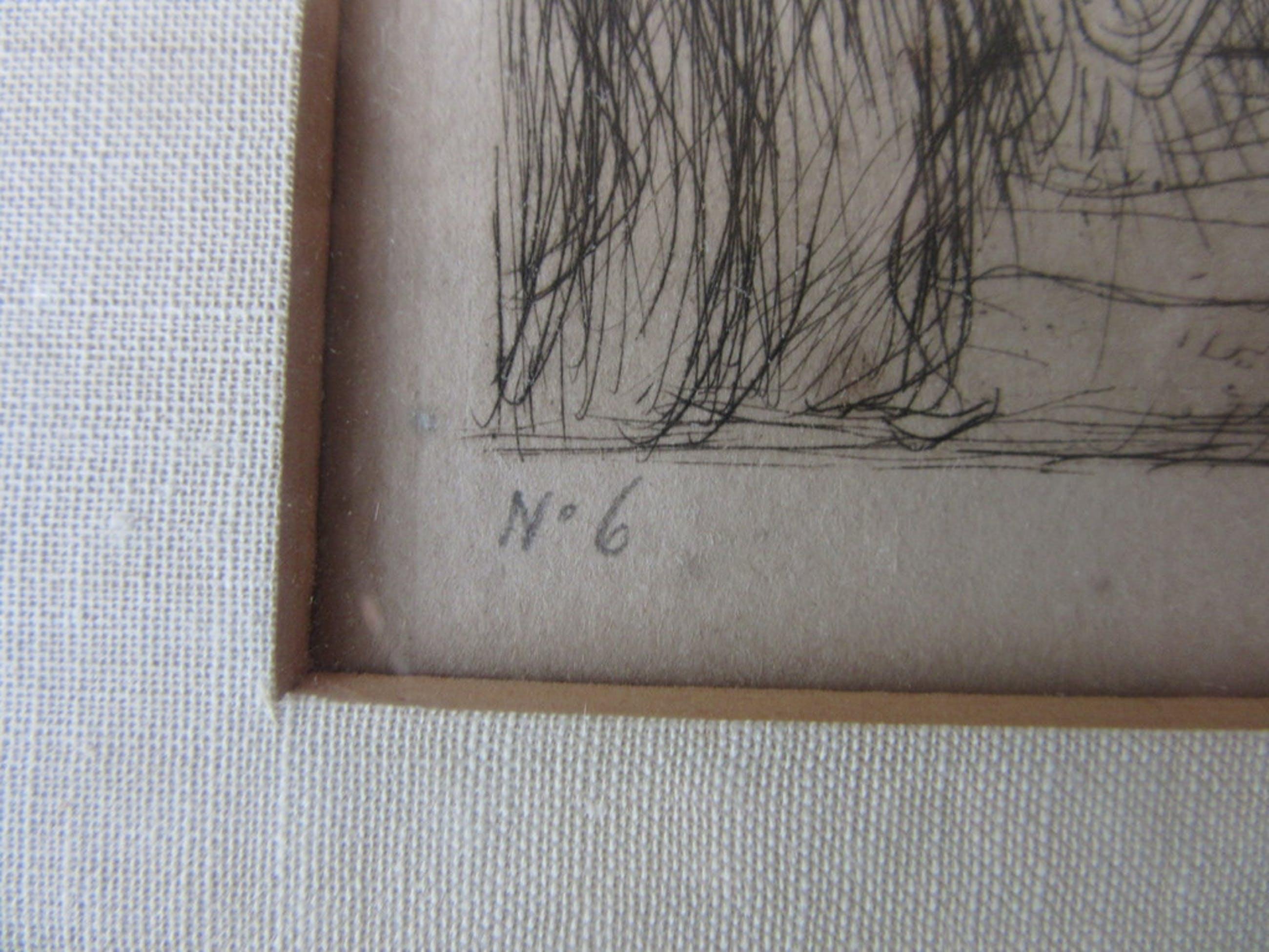 Marius Bauer (1867-1932) - ets, handgesigneerd en genummerd kopen? Bied vanaf 165!