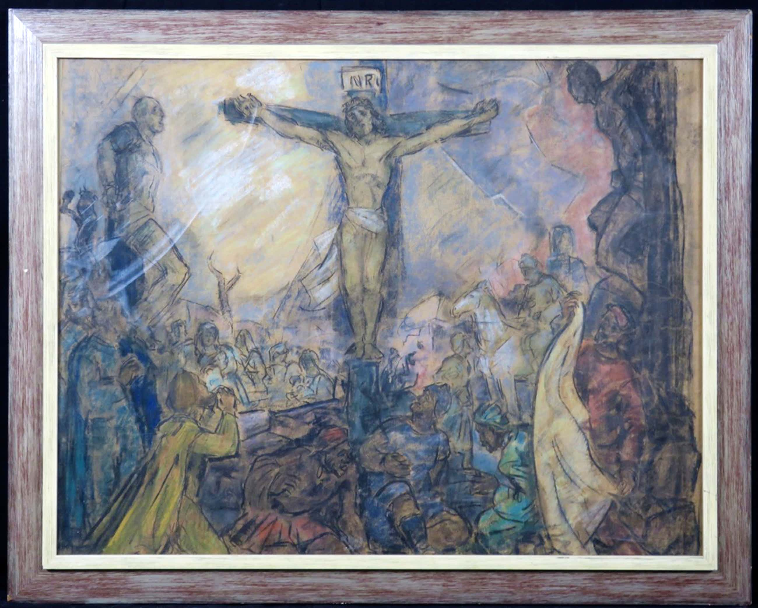 Han van Meegeren: Pasteltekening, Christus aan het kruis - Ingelijst (Groot) kopen? Bied vanaf 650!