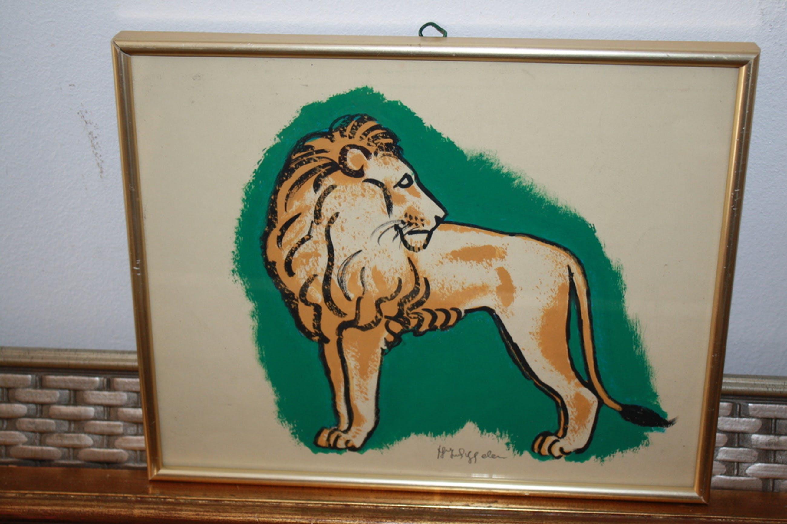 HJ van PIGGELEN 1889-1961 - LEEUW kopen? Bied vanaf 19!