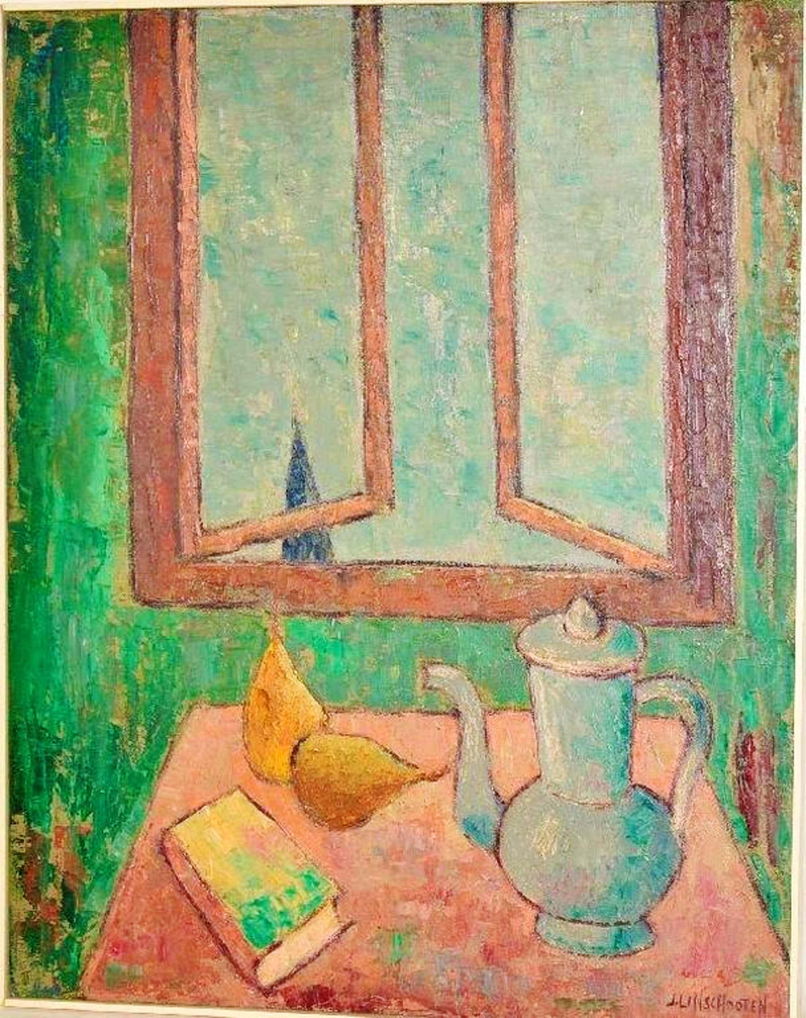 Jan Linschooten: olieverfschilderij. Stilleven kopen? Bied vanaf 100!