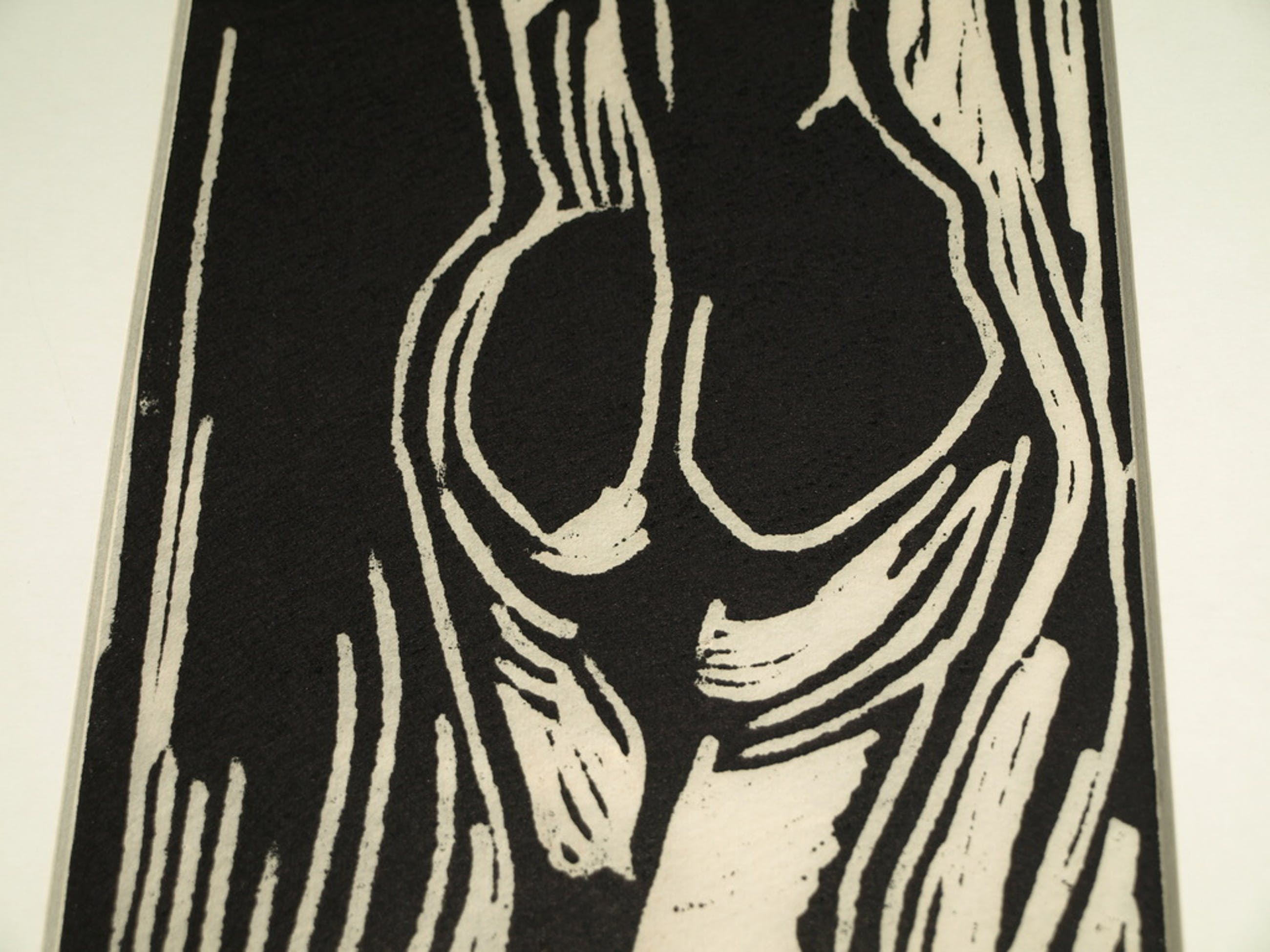 Piet Wiegman (1930-2008) – Houtsnede  – Vrouw – Gesigneerd  kopen? Bied vanaf 1!