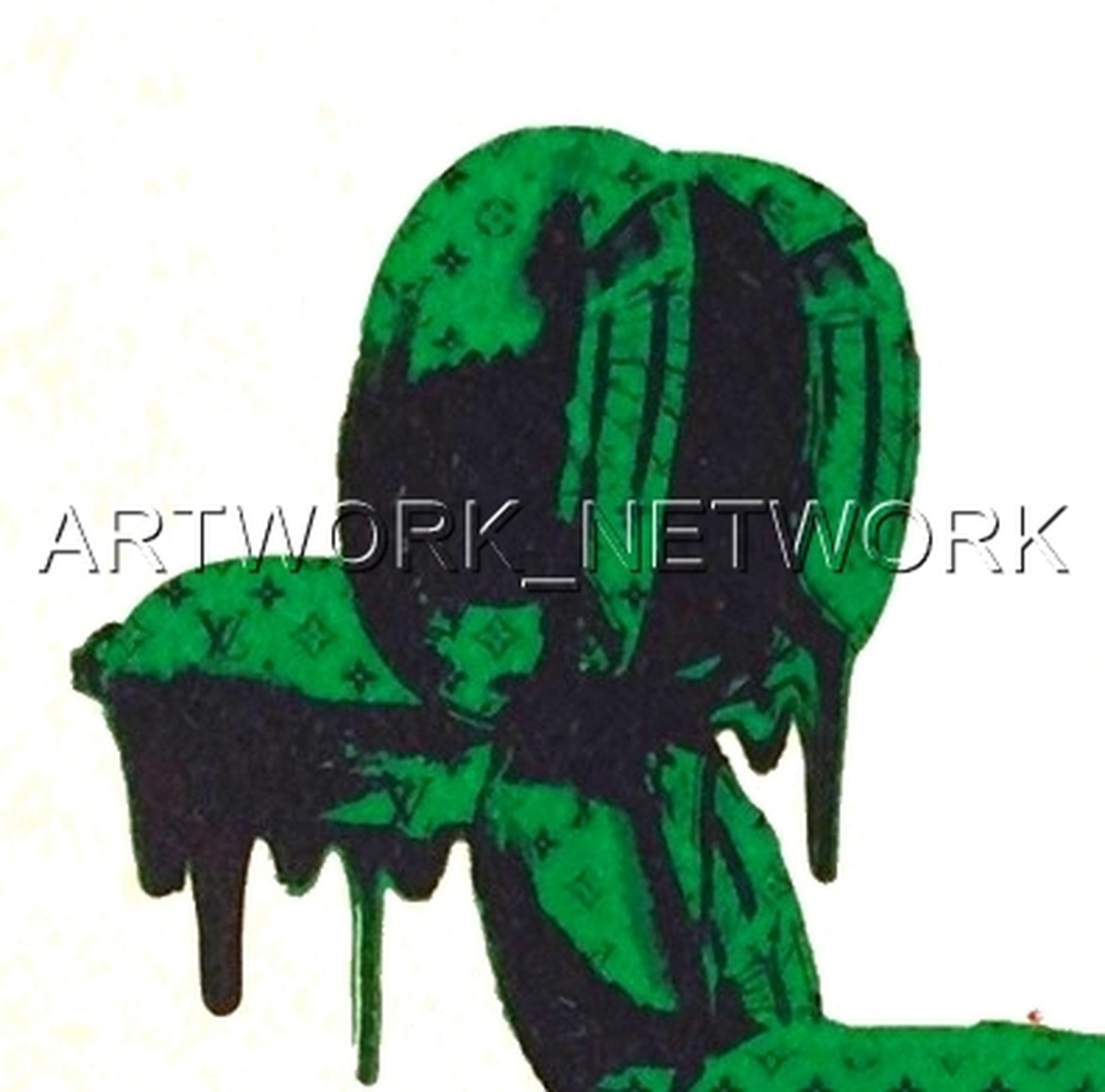 """DEATH NYC """"Dog"""" Green - n° A/P - Signed with COA (Edition Artist Proof) kopen? Bied vanaf 1!"""