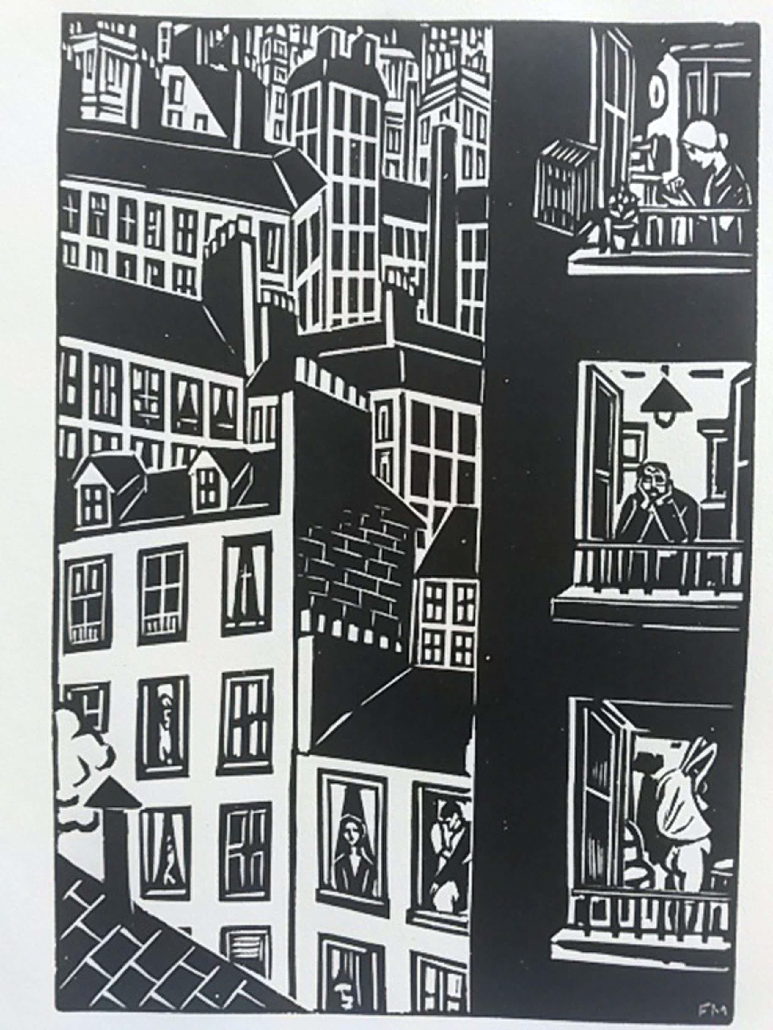 Frans Masereel, houtsnede, uit La Ville, 1928 kopen? Bied vanaf 45!