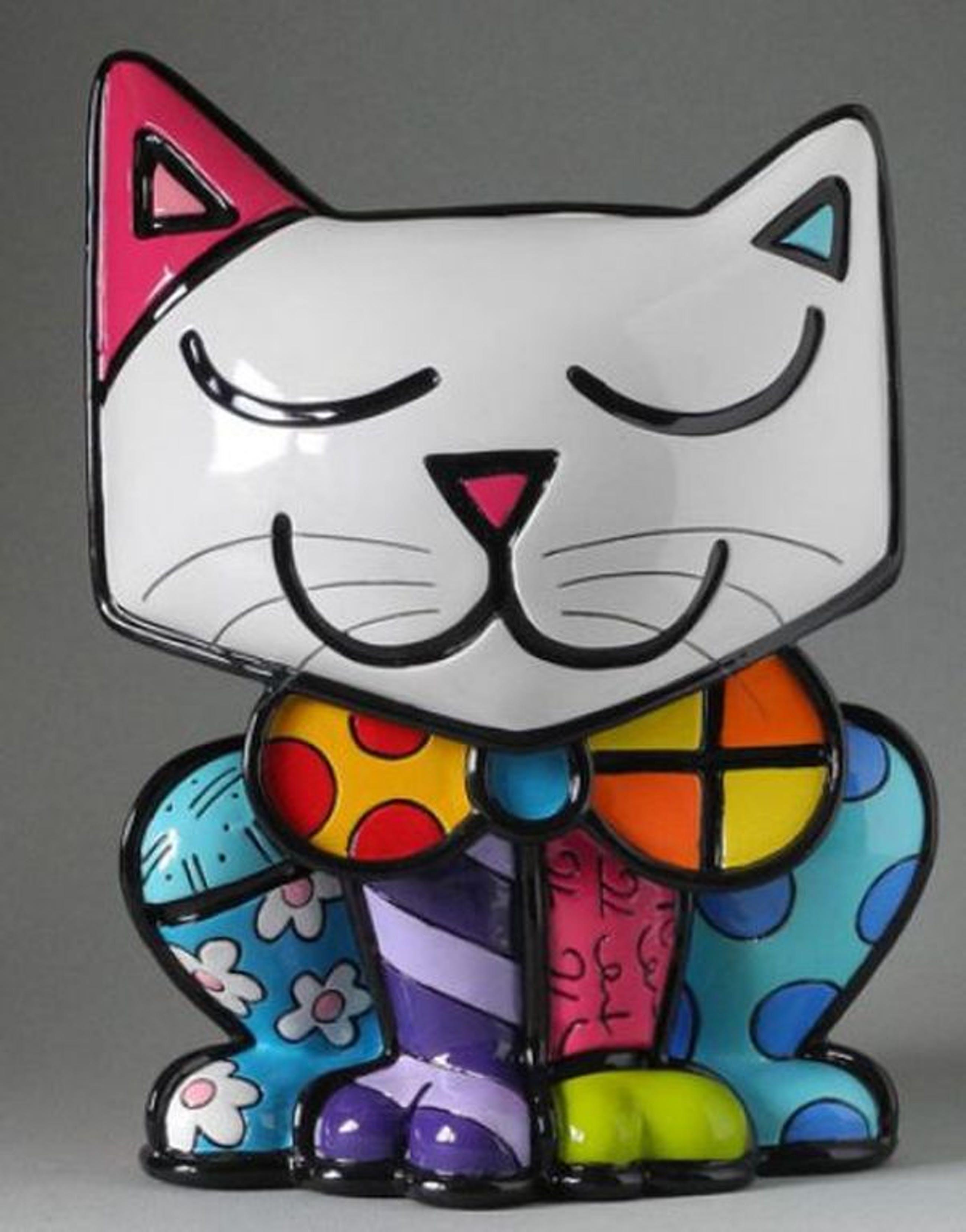 ROMERO BRITTO, gelimiteerd beeld: Cat Snow XL kopen? Bied vanaf 89!