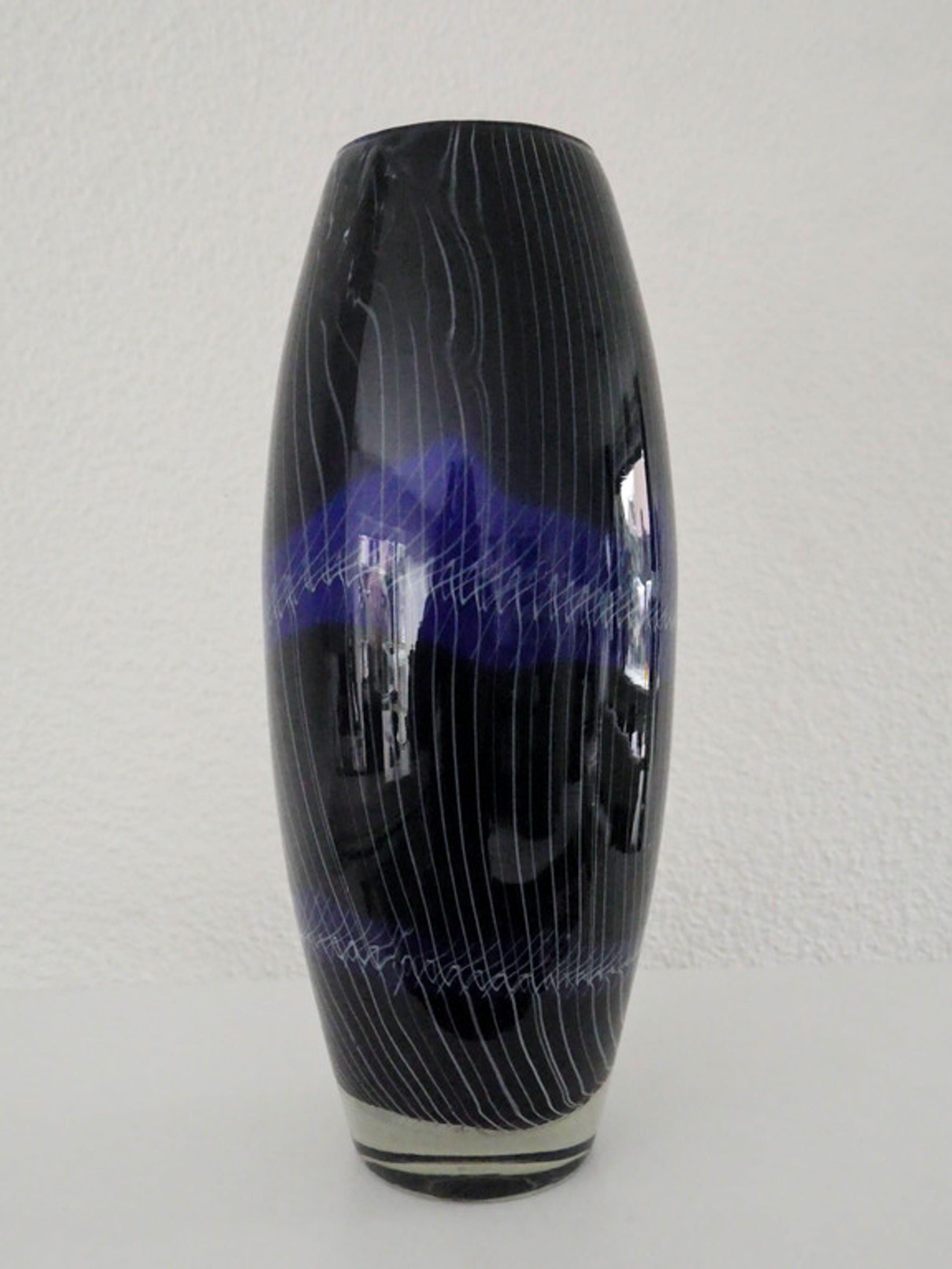 Zware blauwe vaas kopen? Bied vanaf 20!